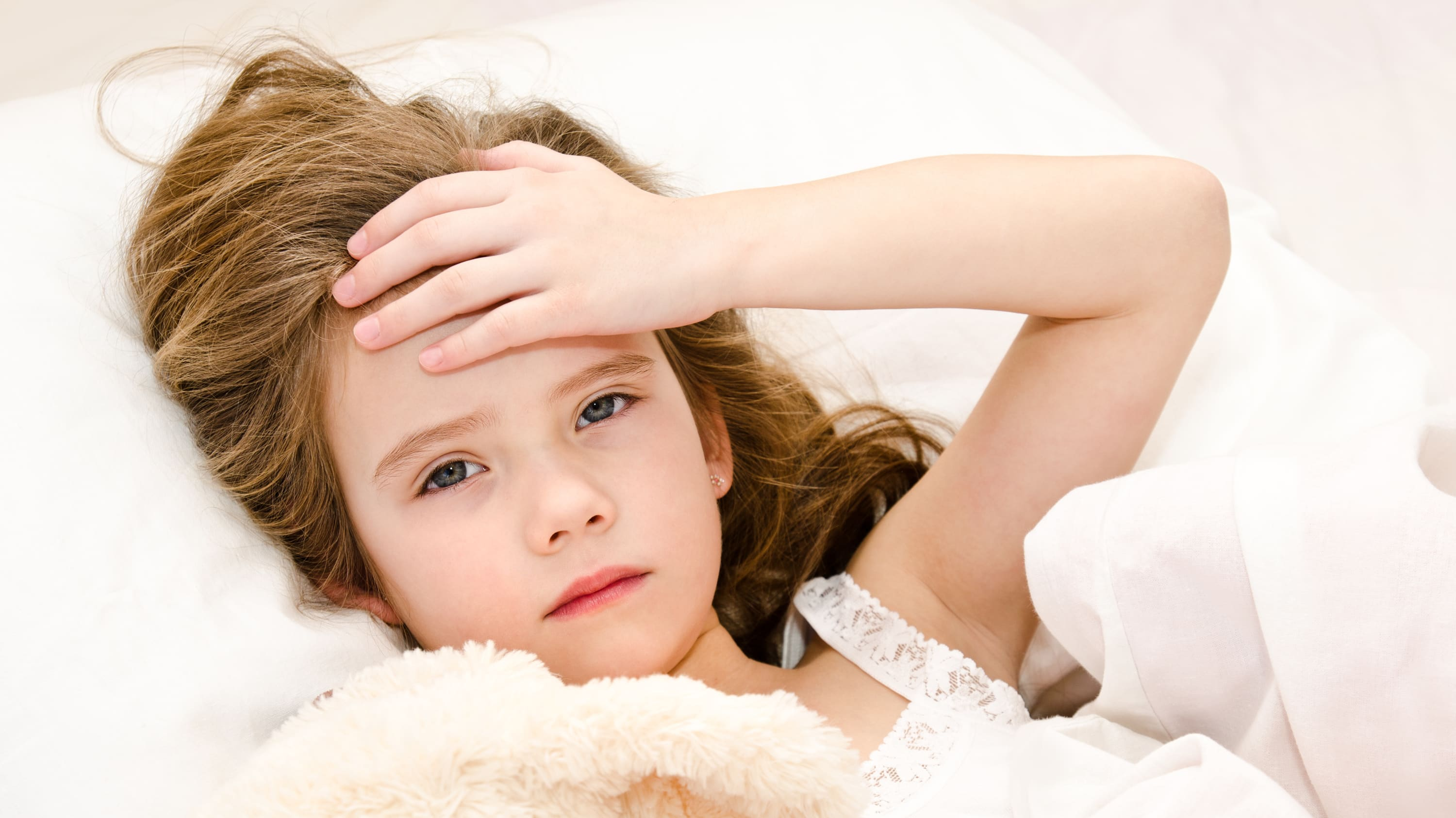 child feeling unwell, perhaps after undergoing chemotherapy