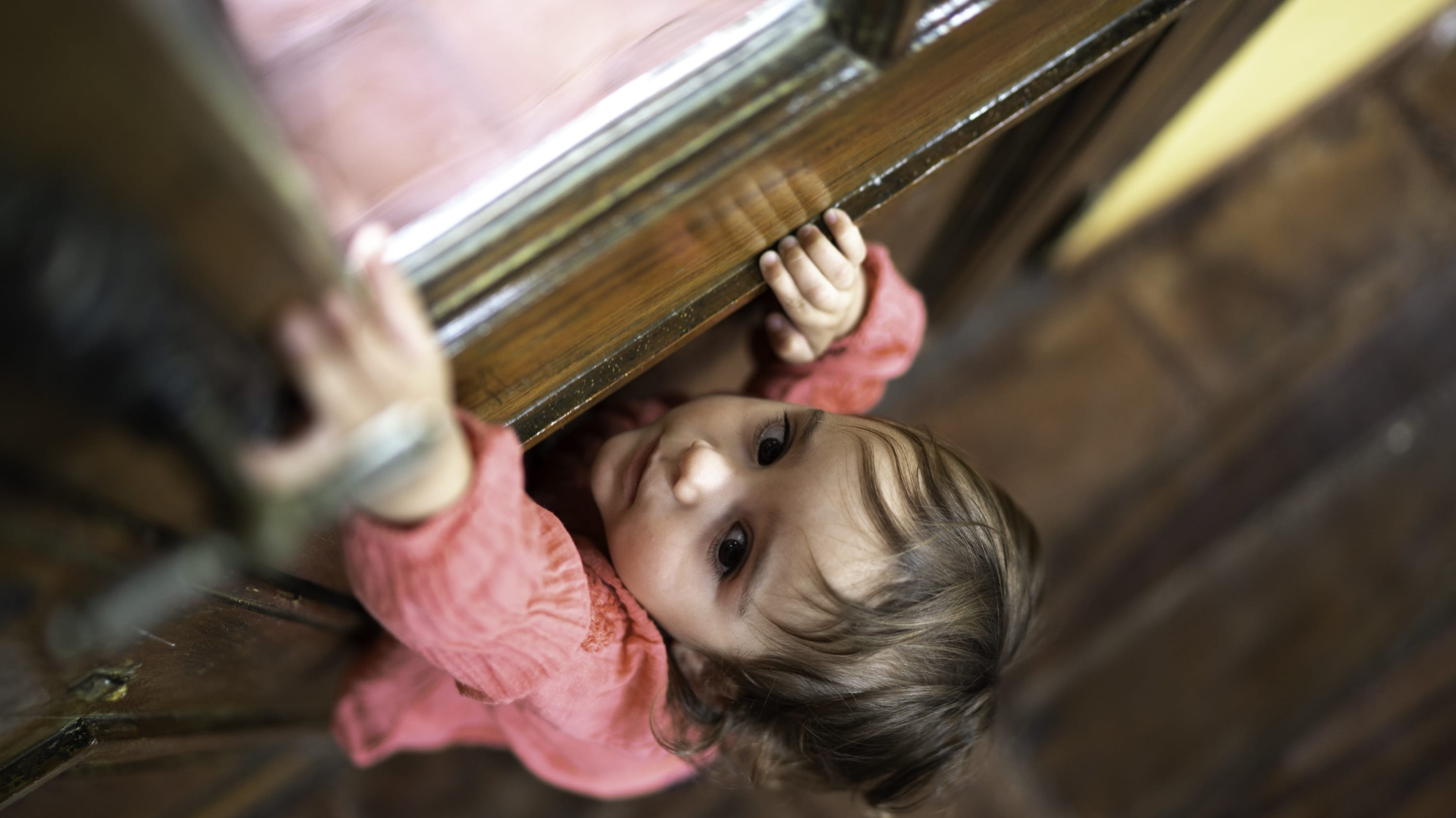 child climbing up cabinet, possibly needing to go to the ED during COVID-19