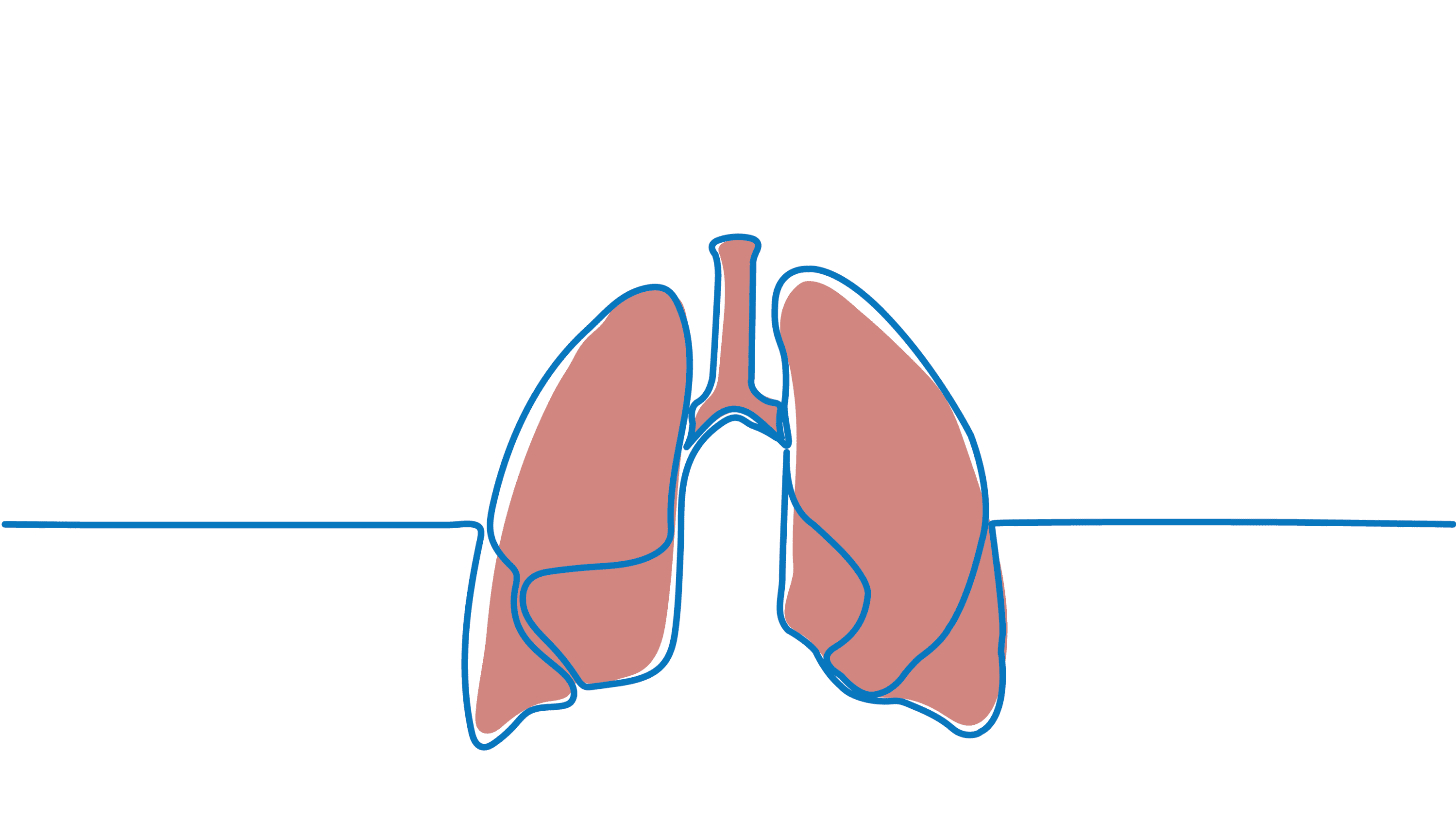 line drawing of lungs