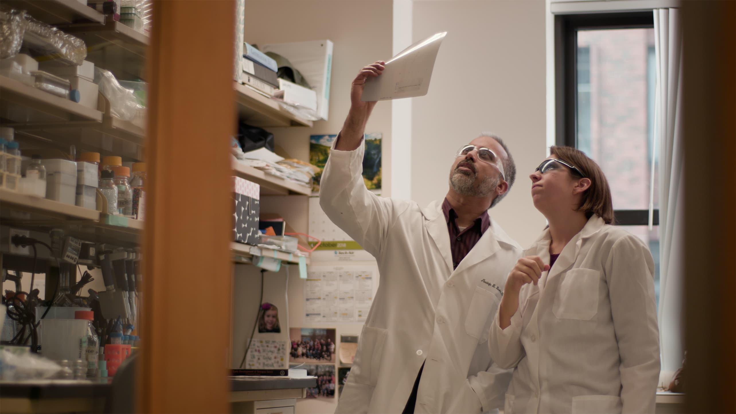 Mustafa Khokha, MD, director of the Pediatrics Genomics Discovery Program (PGDP), collaborates researchers, including Emily Mis, PhD