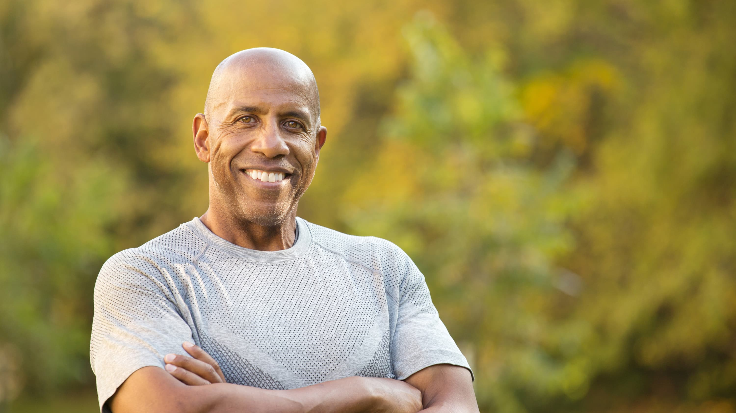A man in good health may have benign colorectal polyps.