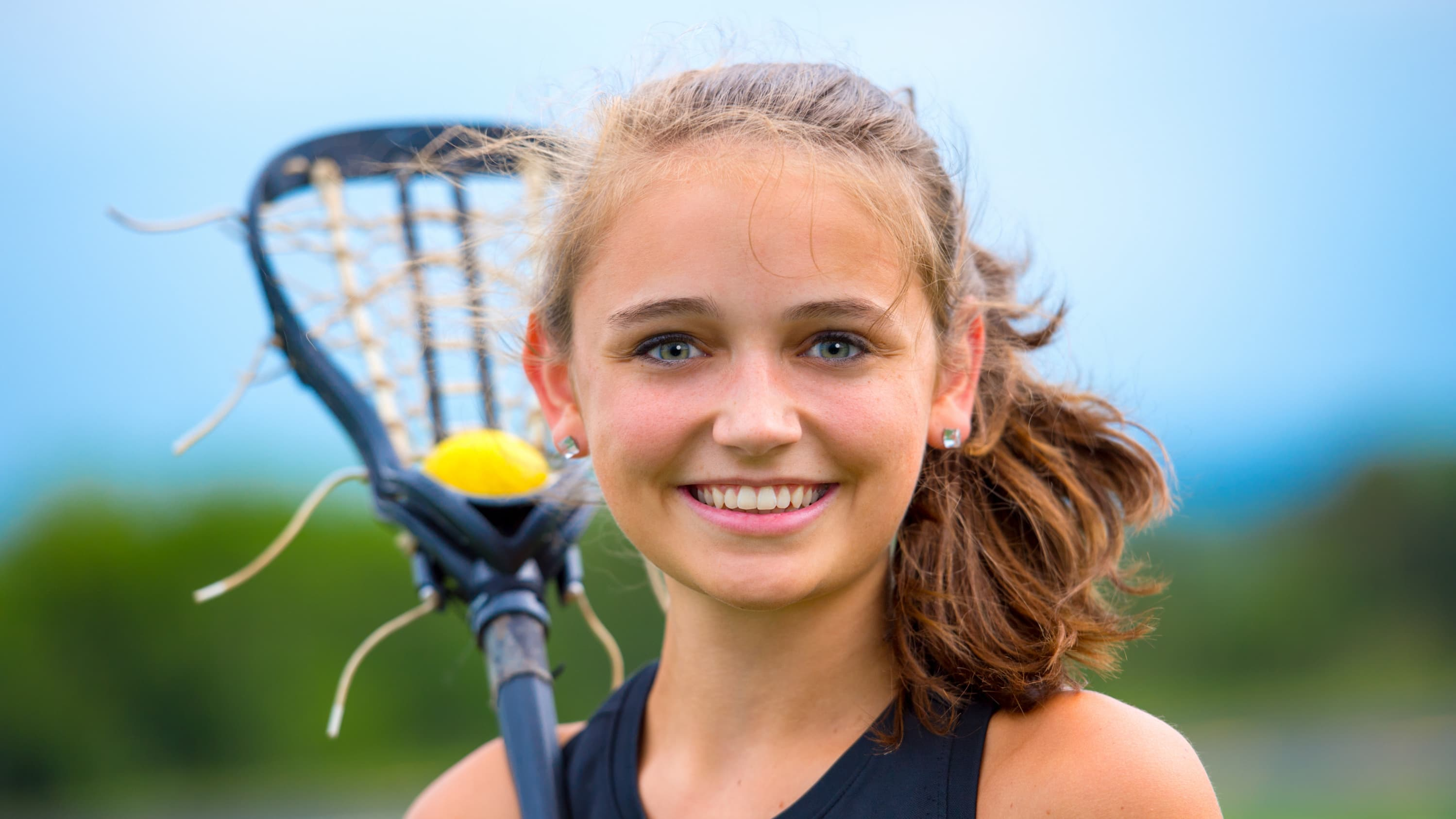 young lacrosse player