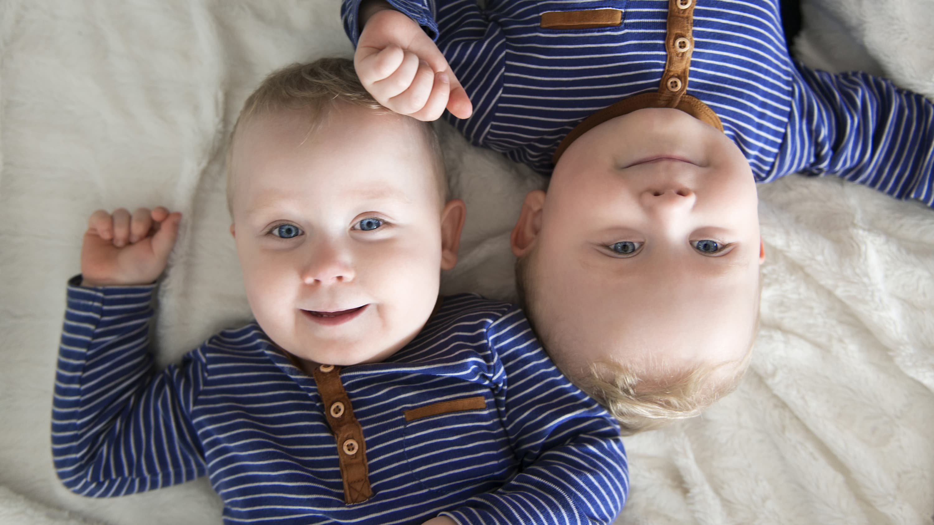 Twin boys, possibly after treatment for twin-to-twin transfusion syndrome