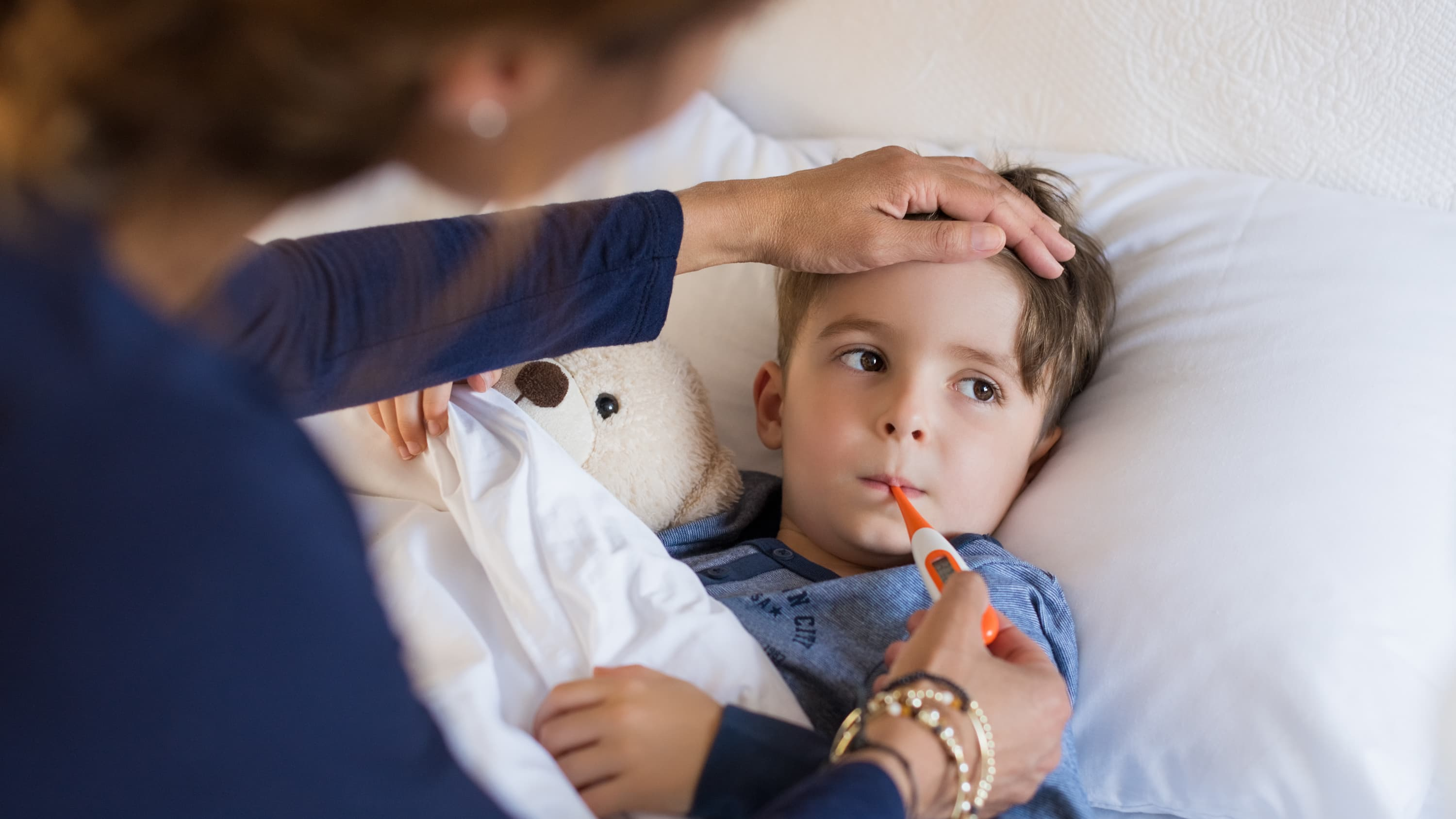 A boy suffering from possible sepsis.