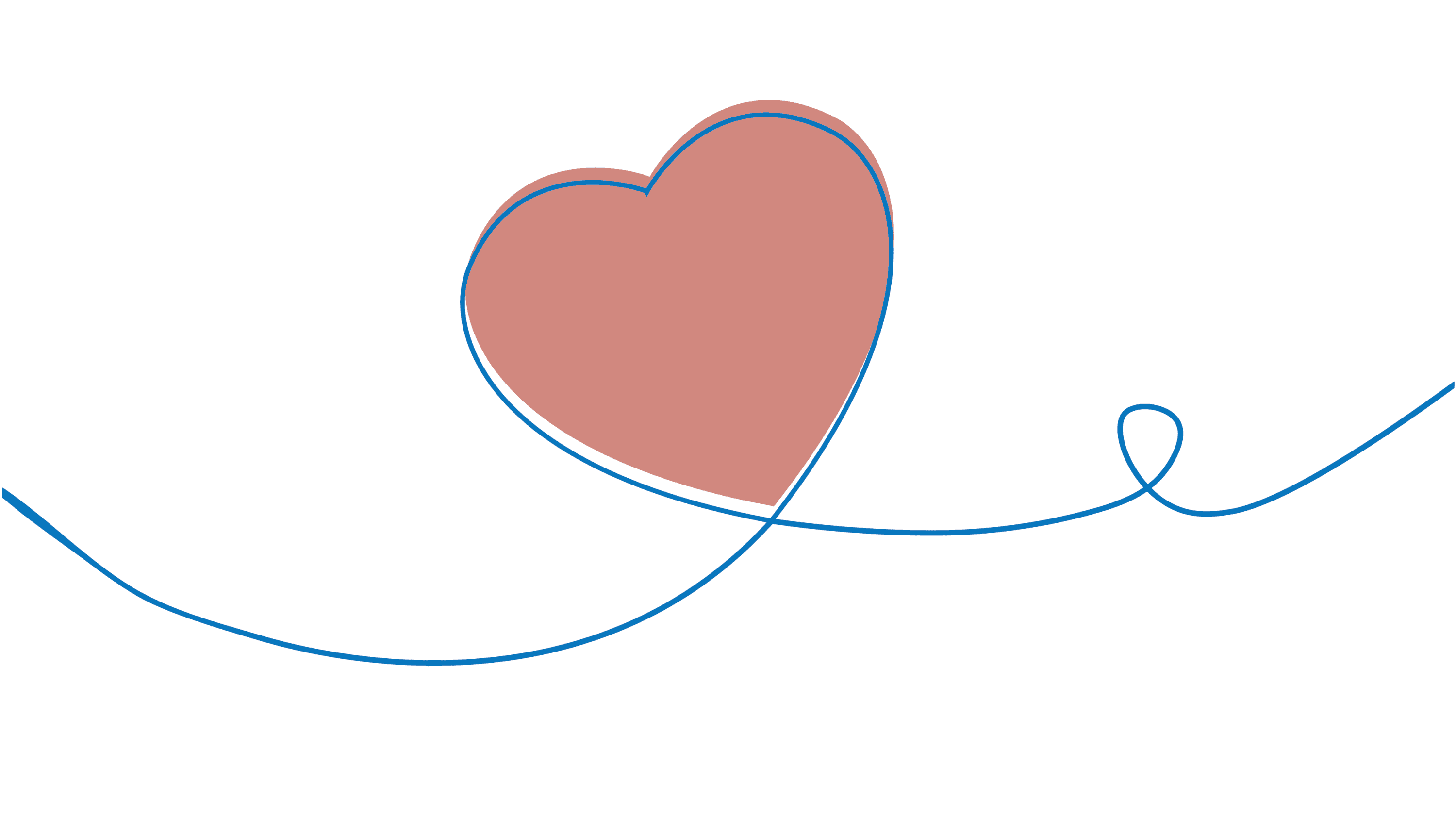 Line drawing of a heart on a string.