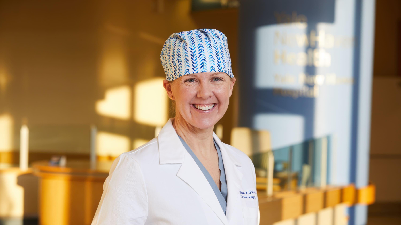 Hero portrait of cardiac surgeon Dr. Colleen Pietras