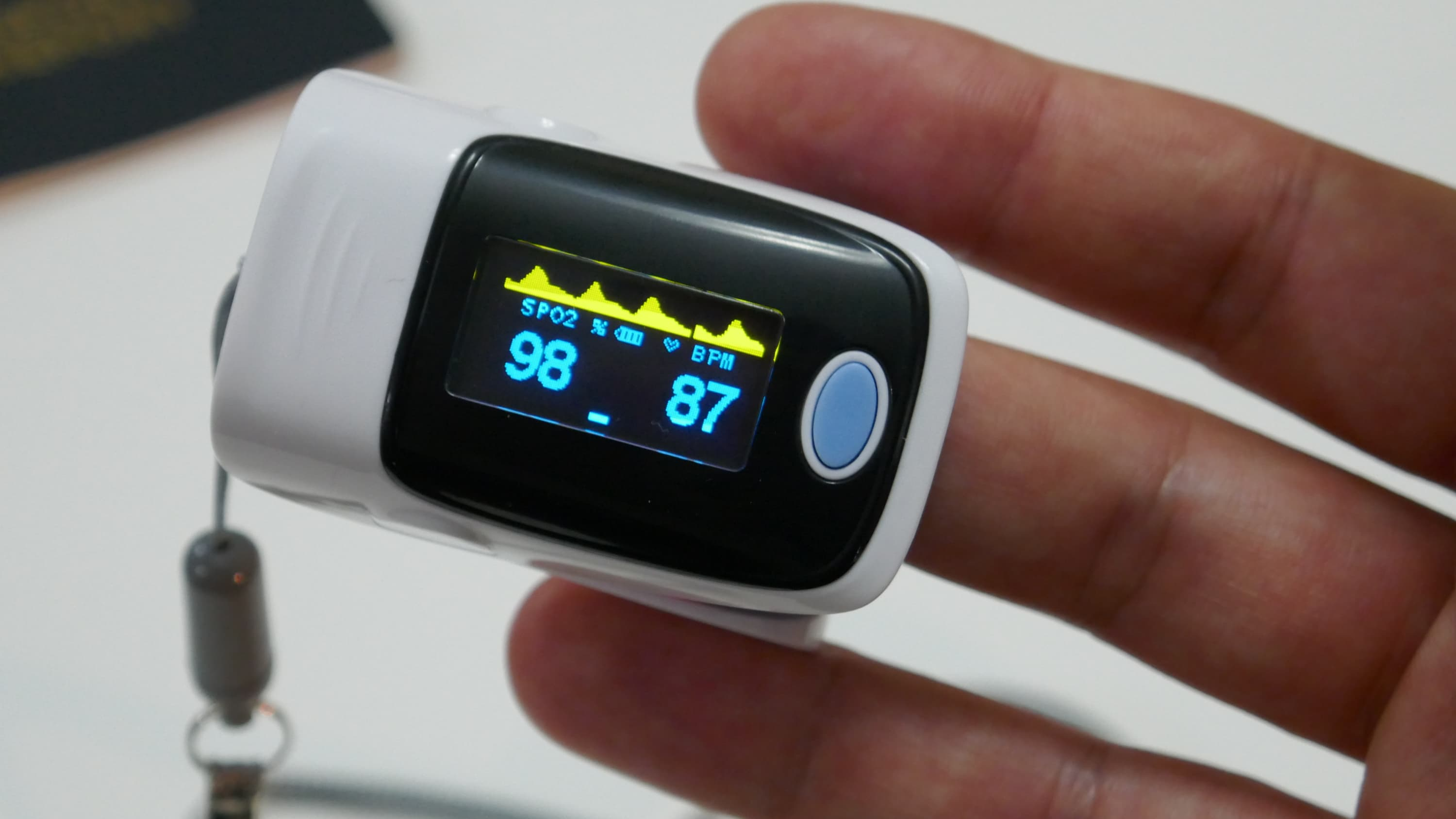 pulse oximeter, sometimes used to monitor COVID-19 symptoms