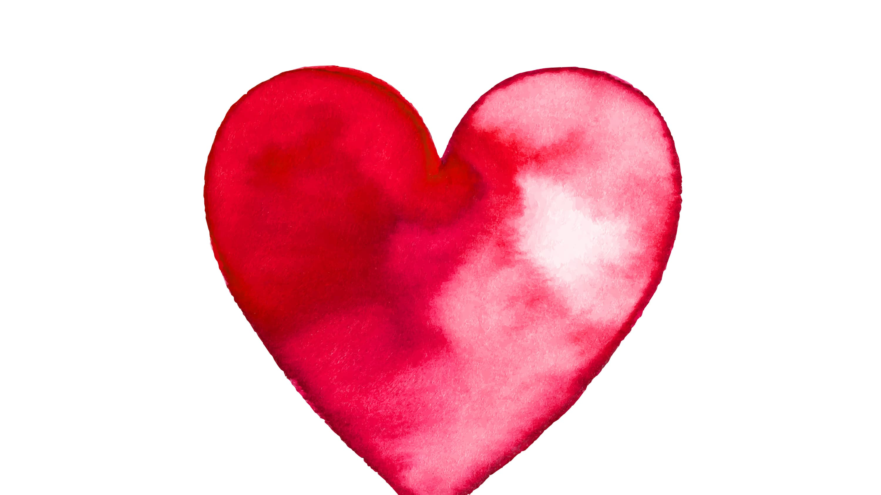water color painting of a heart, to represent how men and women experience heart disease differently