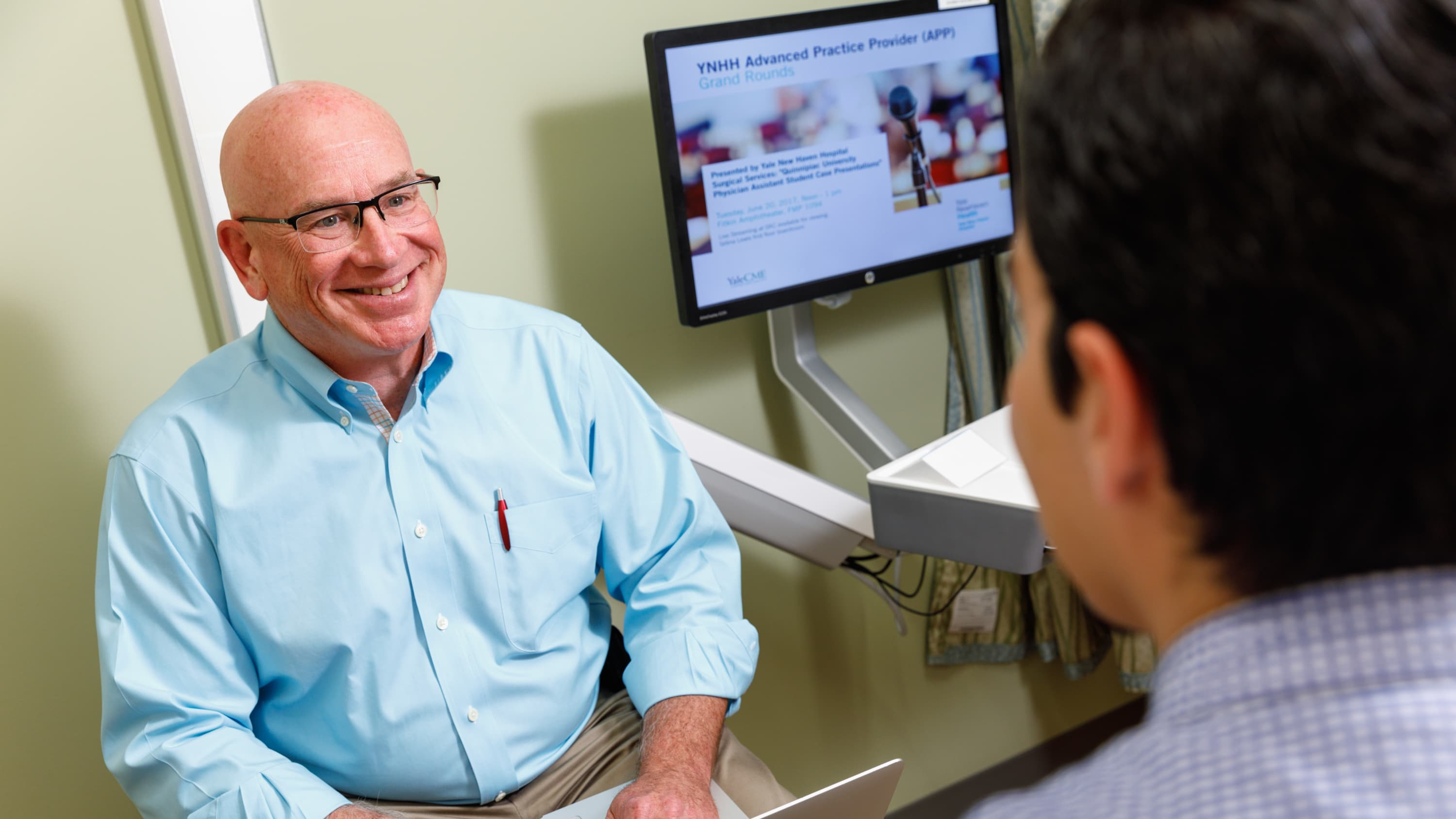 Dr. Honig with a patient discussing erectile dysfunction