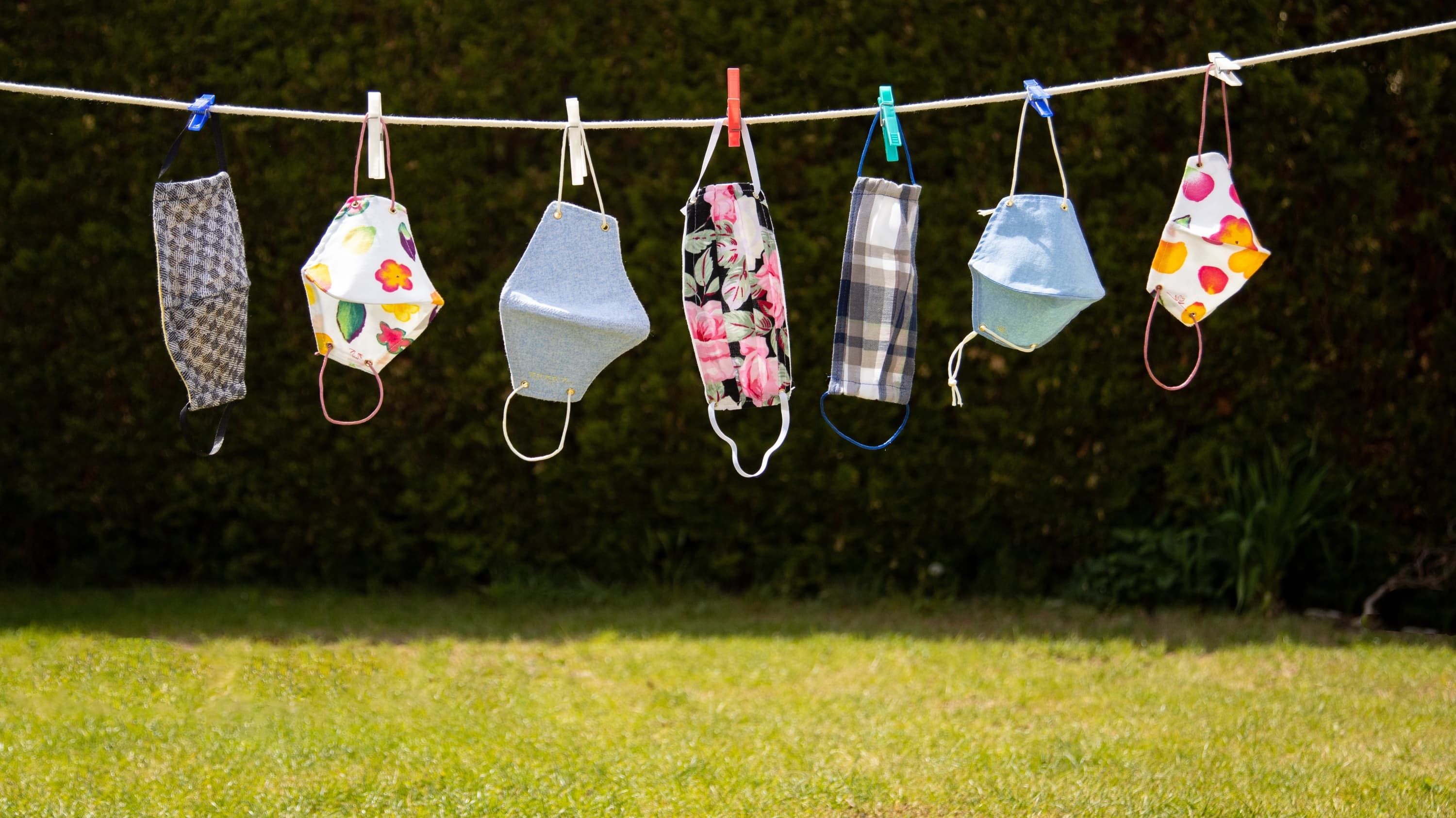 face masks on a clothes line—for more than just COVID-19 protection