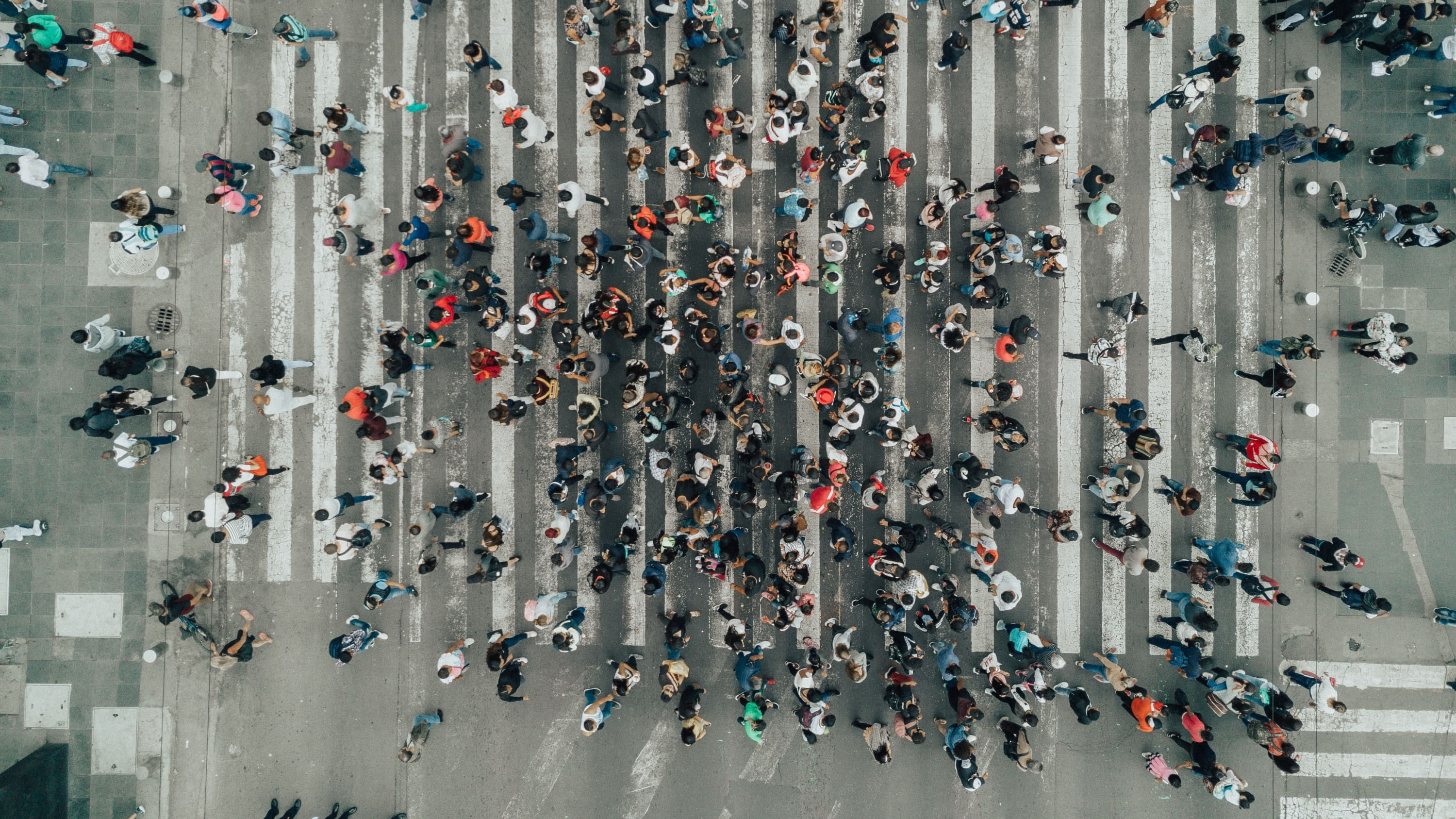 crowded streets, representing the number of people who may have mosaicism