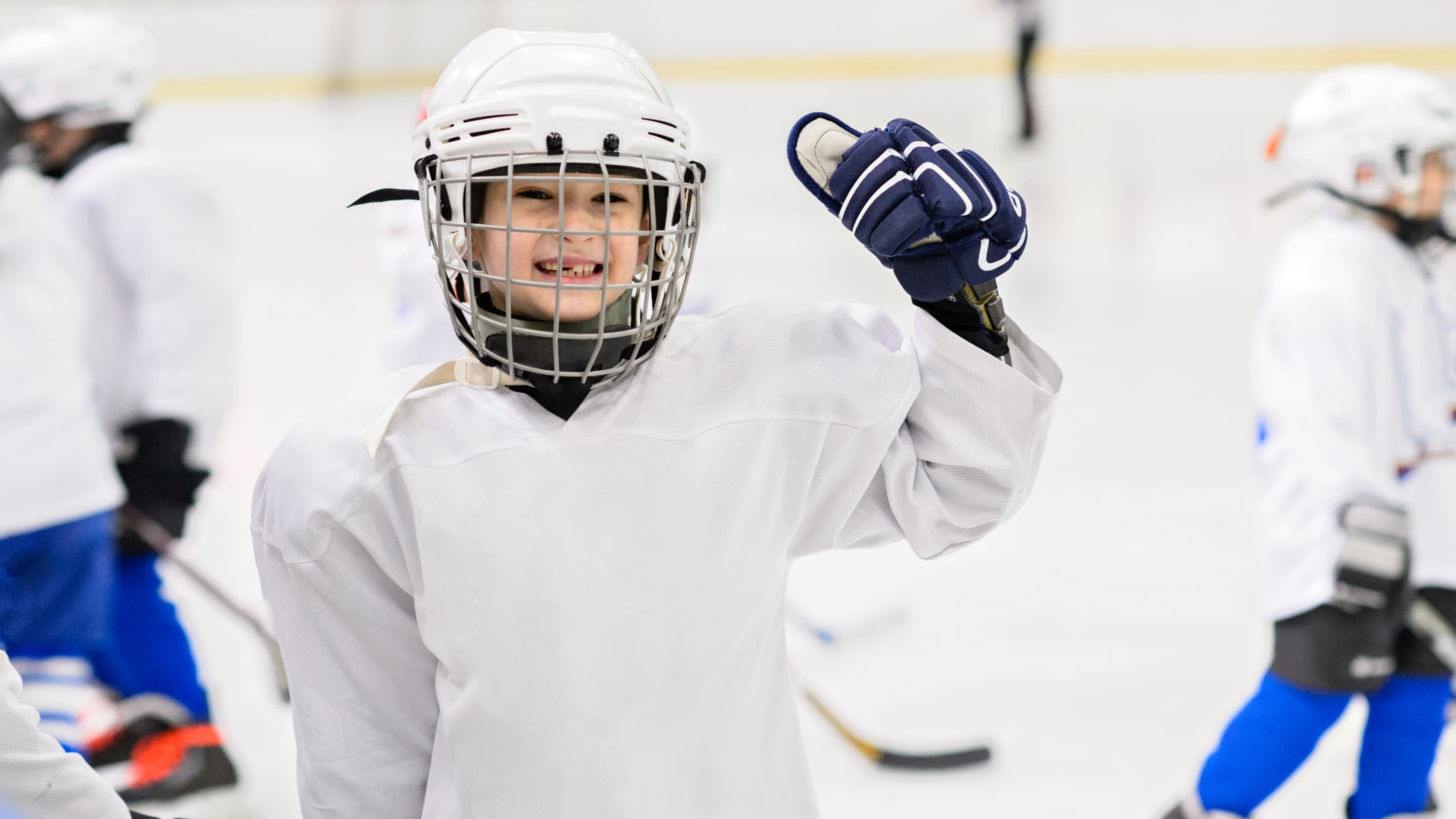 A young hockey player