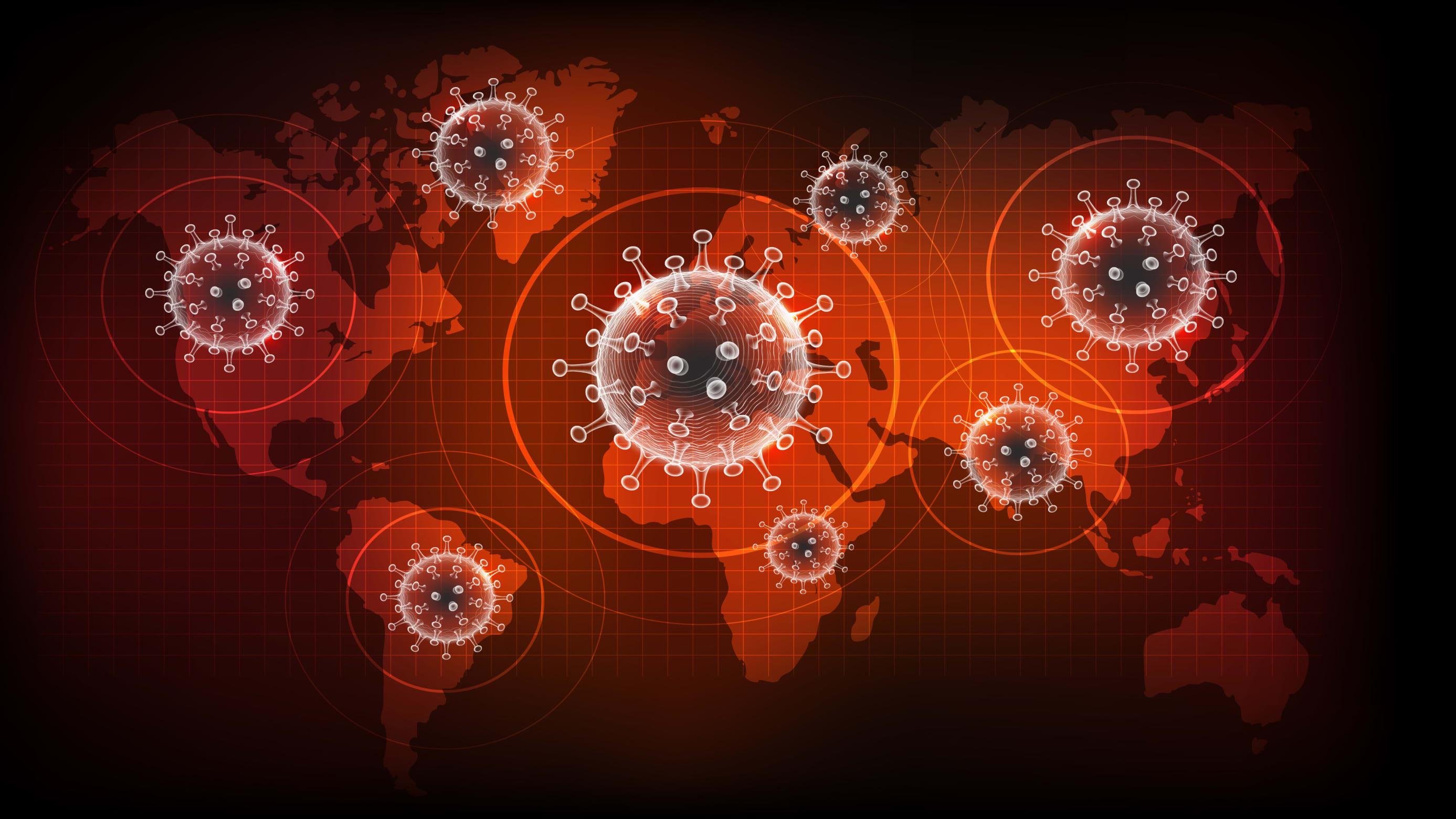global map of novel coronavirus variants