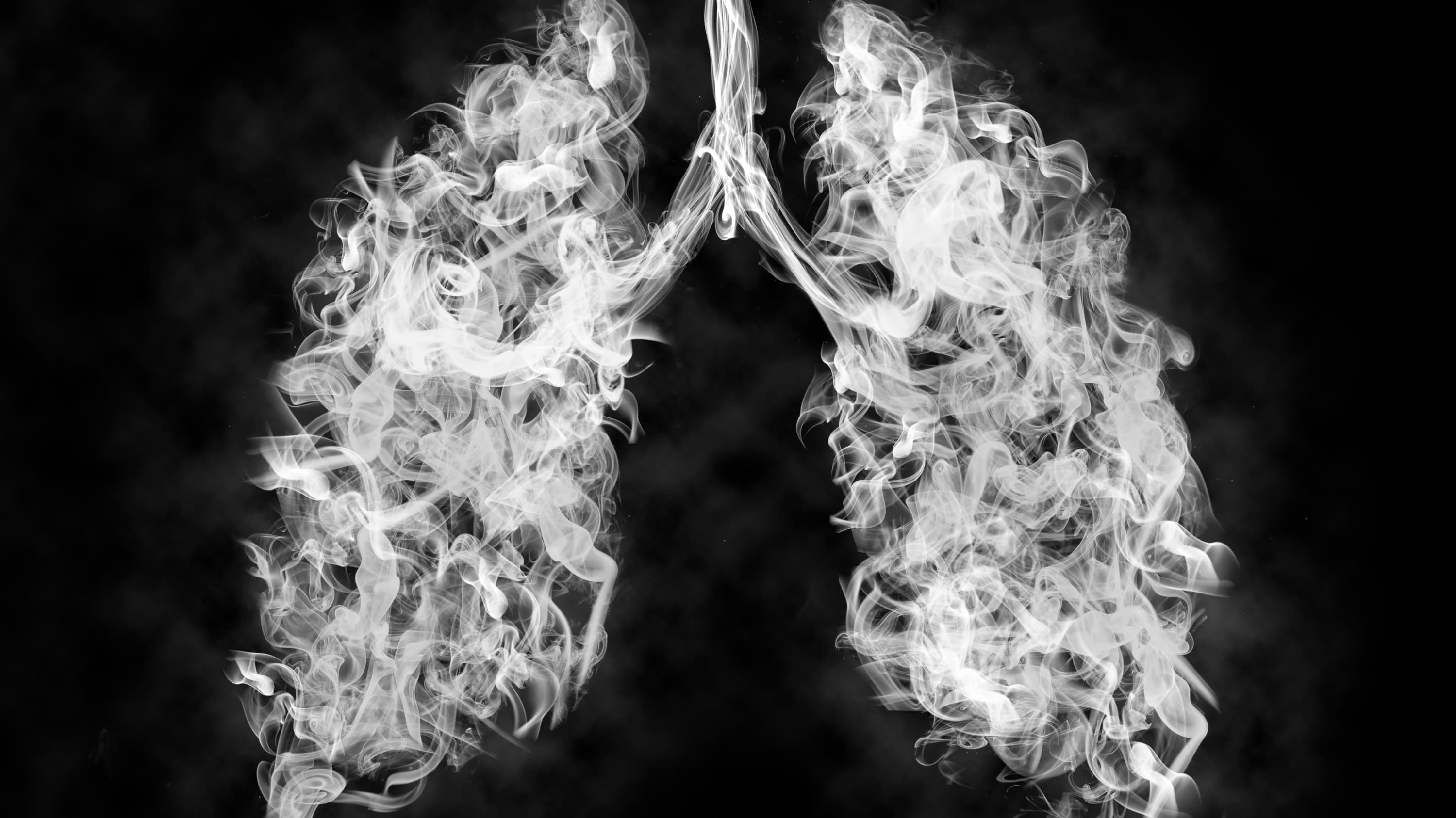 Illustration of smoke in lungs, representing the dangers of vaping
