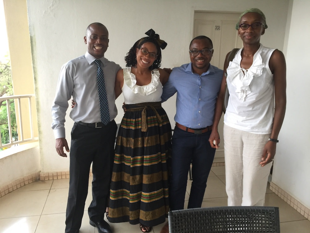 Yale Global Mental Health Program Director Ayana Jordan, MD, PhD, second from left, in Sierra Leone during a research trip.