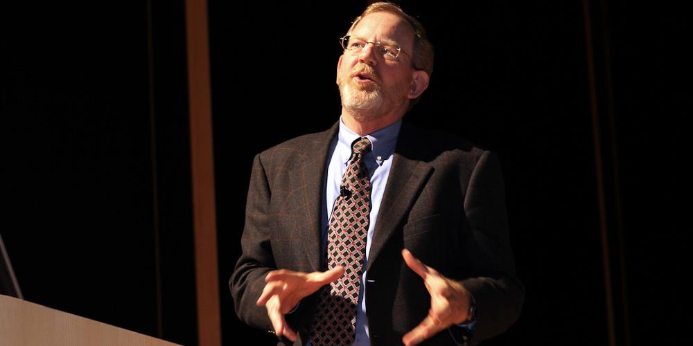 Dr. Michael Hoge delivering a lecture