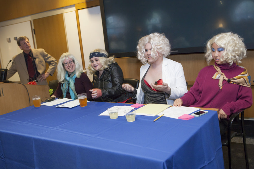 Jack Hughes introduced the four impostors, played by Jessica Berger, Jessi Gold, Sam Sondalle, and Alice Lu.