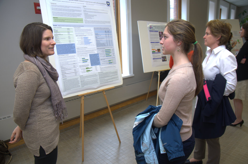 Medical student Kate Standish discussed her poster about training students in global health research.