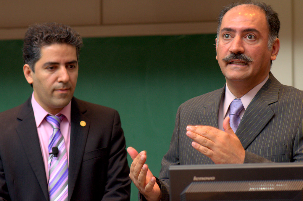 Kamiar and Alash Alaei described their imprisonment in Iran at grand rounds in May.