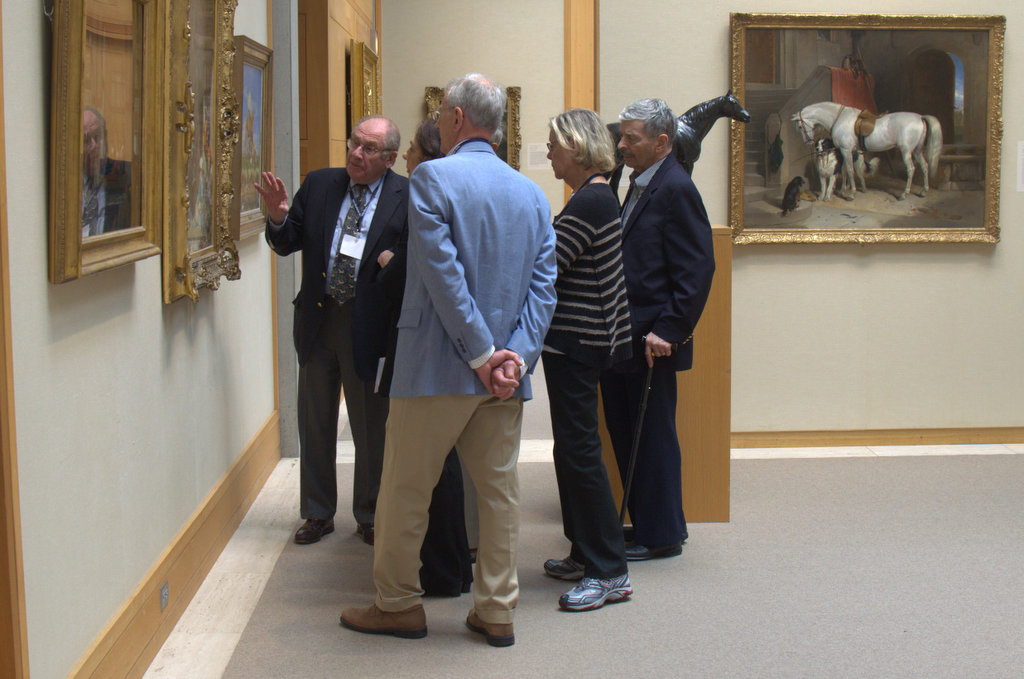 Irwin Braverman demonstrated his class that uses paintings to teach medical students how to observe.