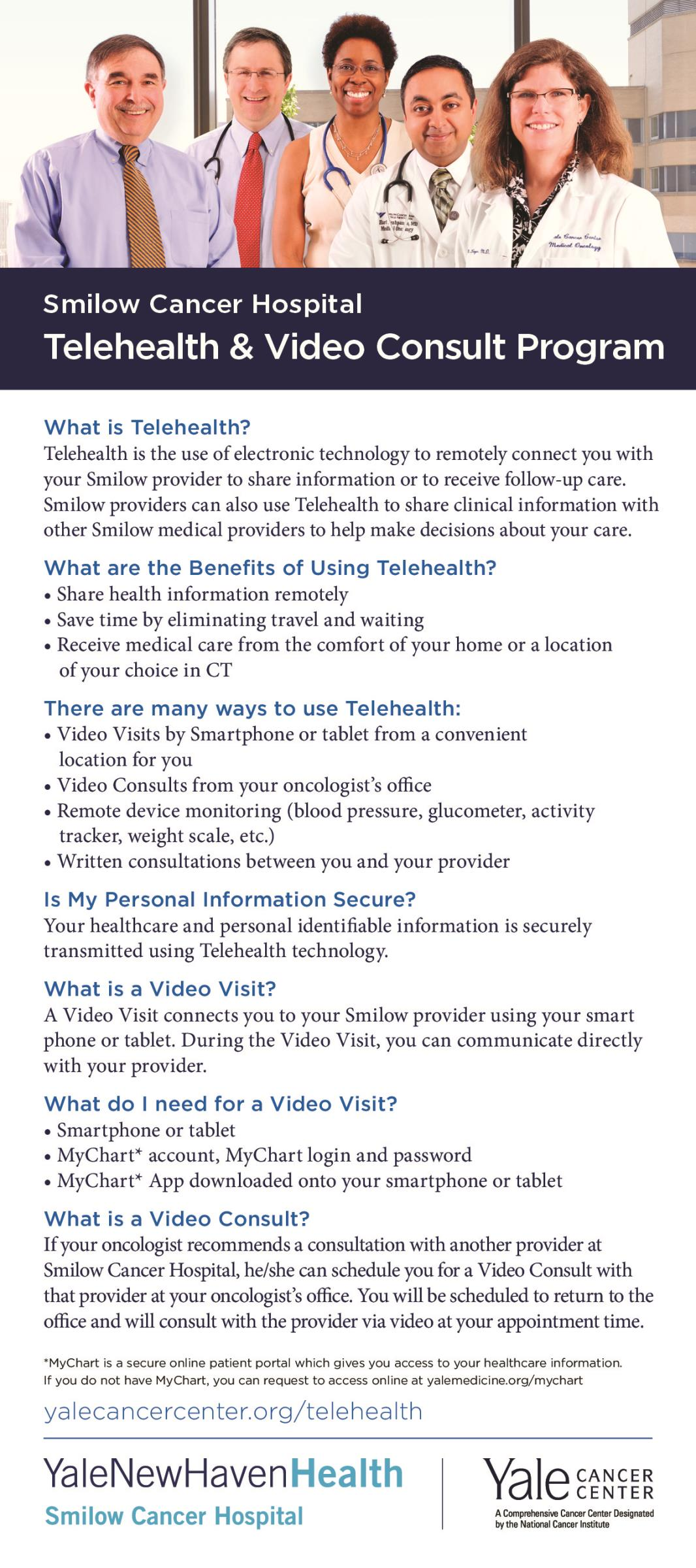 Telehealth rack card