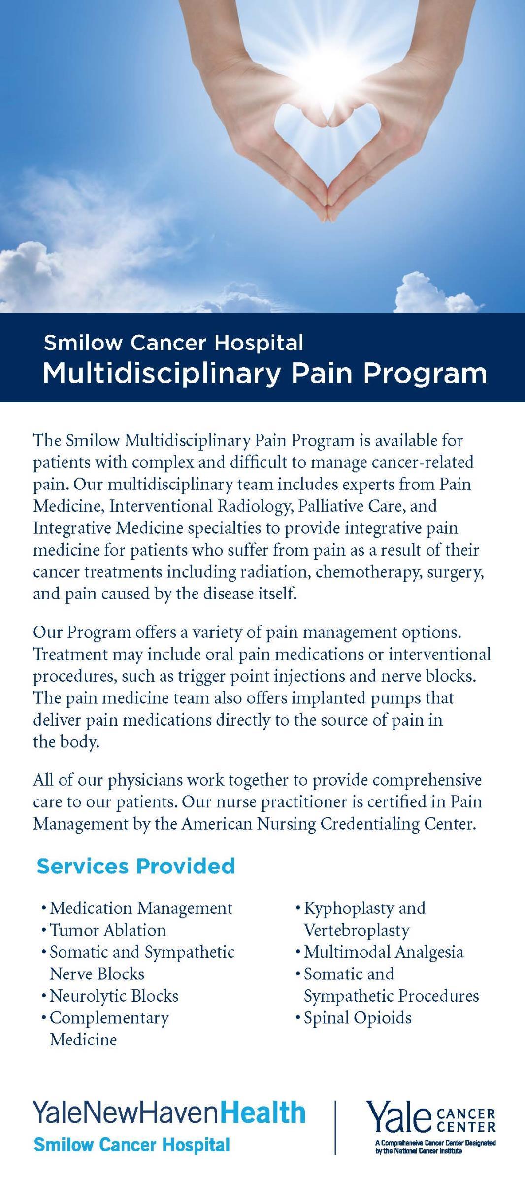Pain Program brochure cover