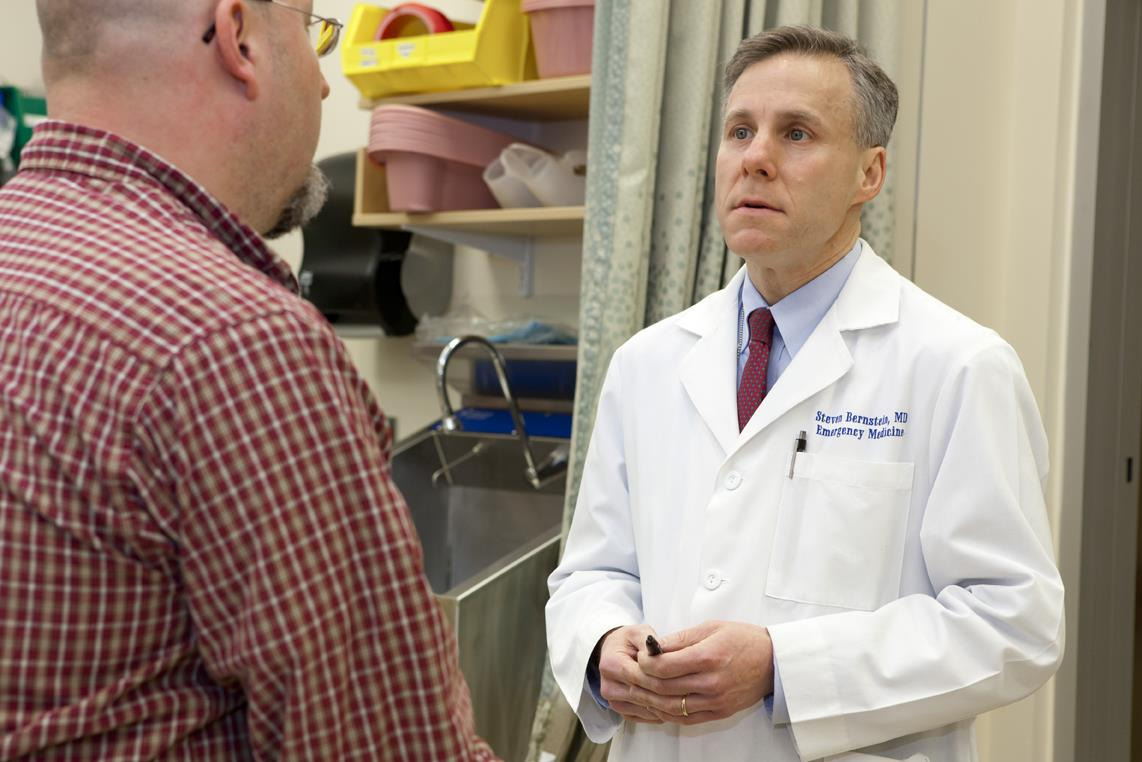 Steven L. Bernstein, associate professor of emergency medicine, believes that emergency rooms need to address the proximate behaviors that underlie acute medical or traumatic conditions.
