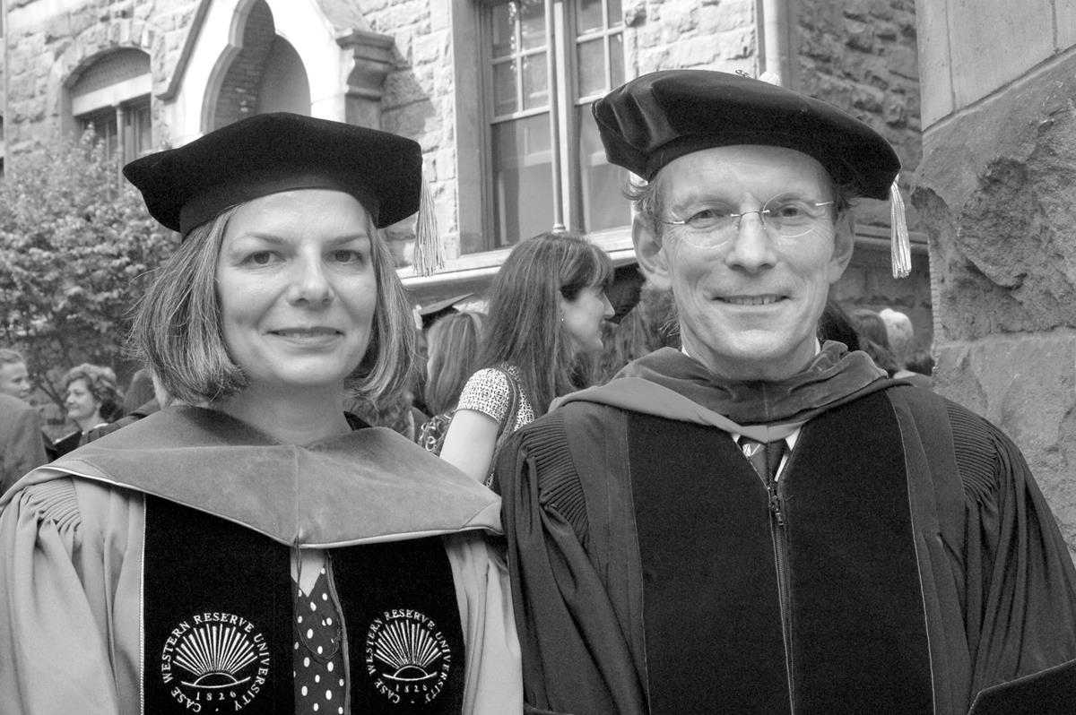 Dean Paul Cleary with Commencement speaker Julie Gerberding