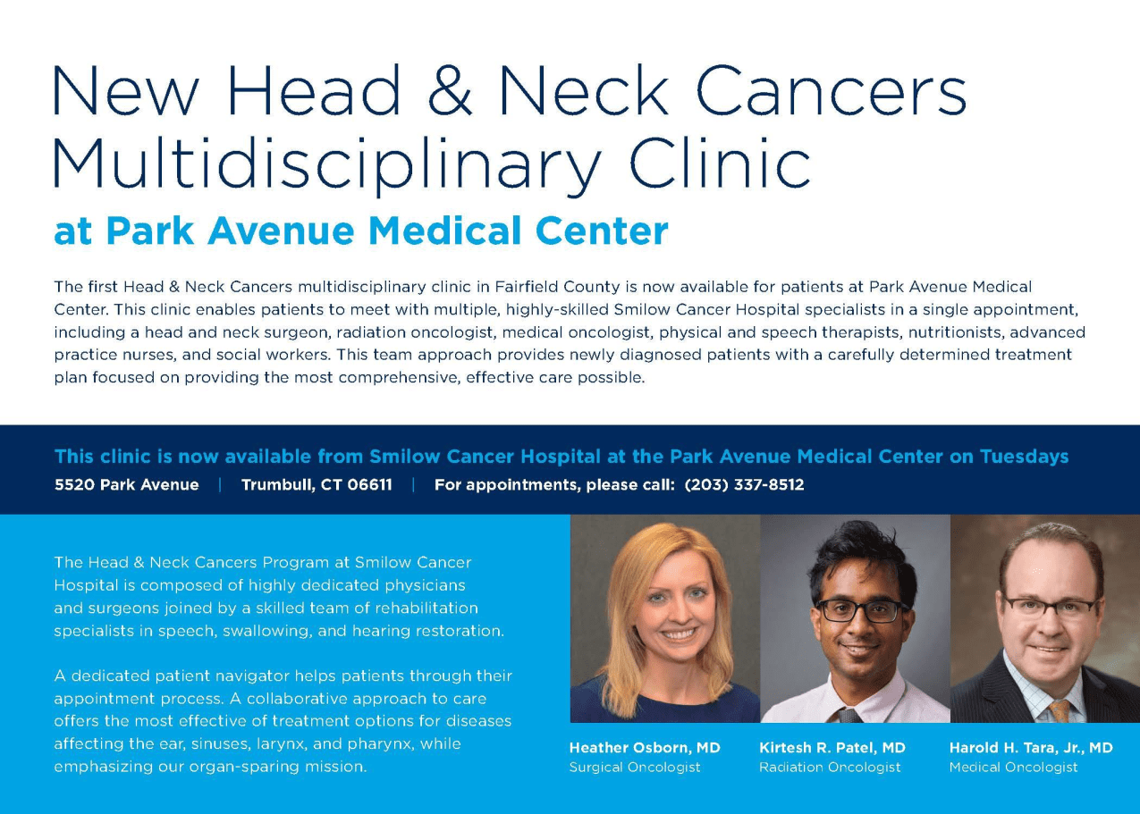 New Head and Neck Cancers Clinic