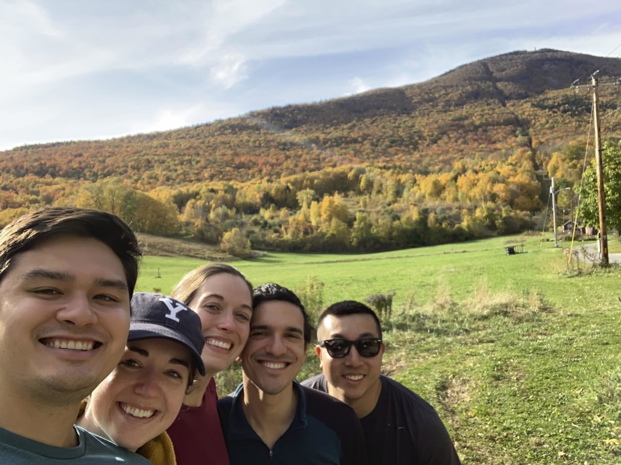 Yale Urology residents hiking