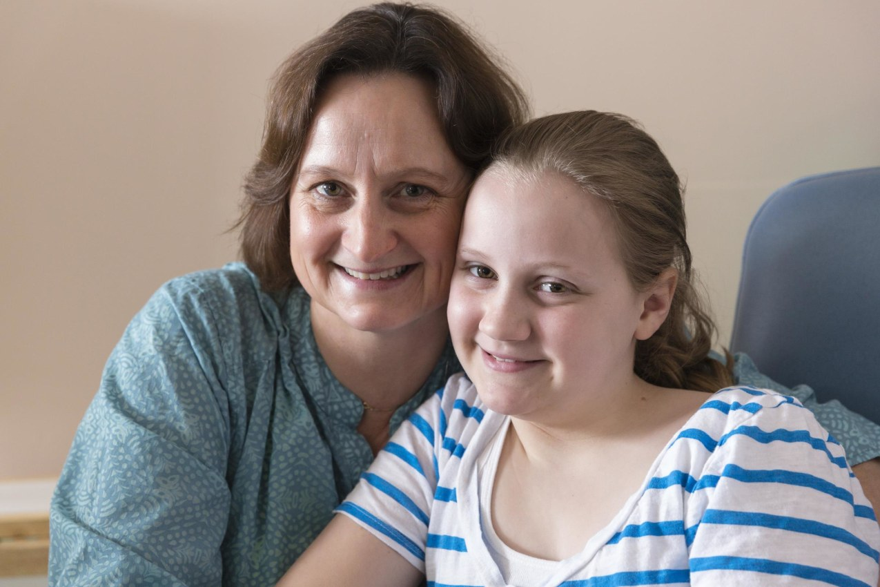 Meg Fergusson with her daughter, Anna, who enrolled in a study to test a new drug that may help prevent Type 1 diabetes.
