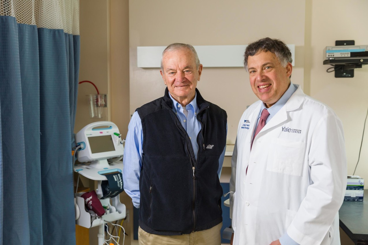 Ray Fitzgerald and Dr. Roy Herbst