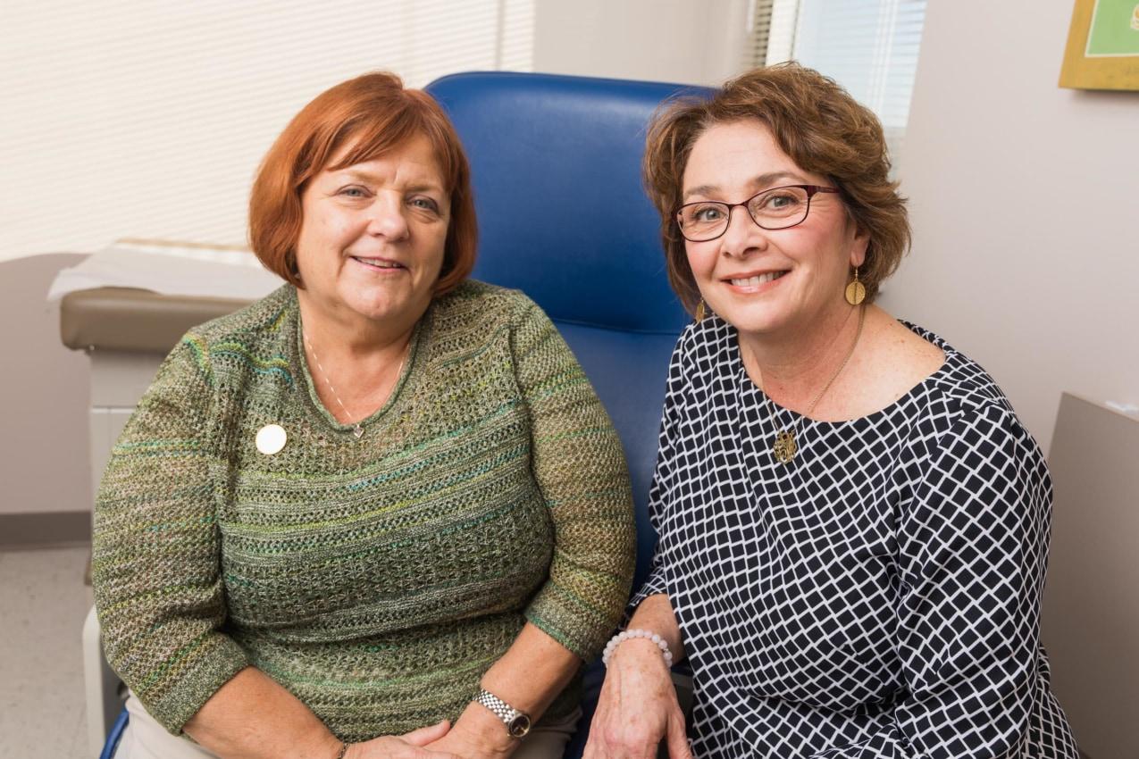 Cheryl Raab and Patricia Gatcomb