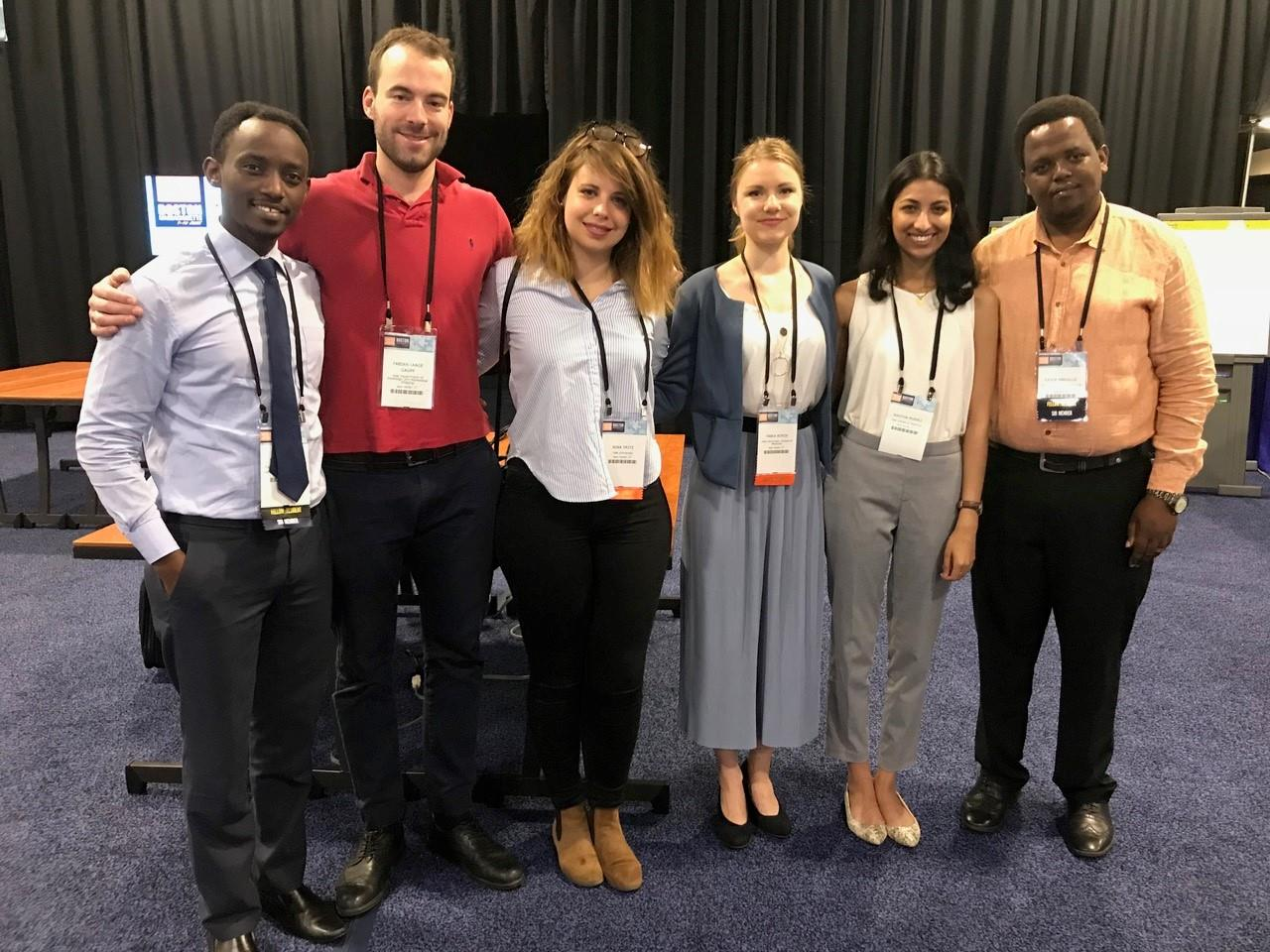 Trainees and medical students from Tanzania, the US, Germany, and France at WCIO 2018