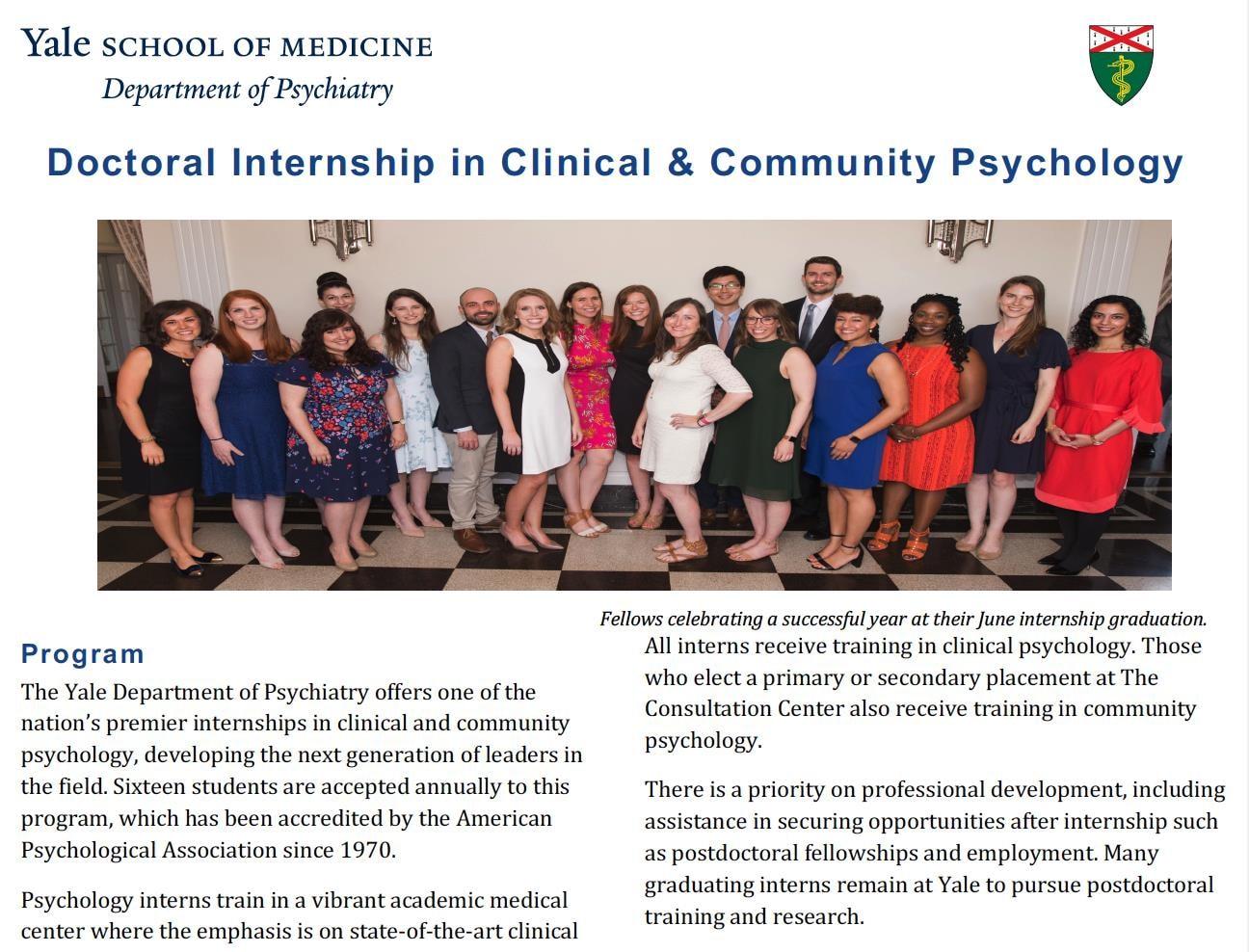 Doctoral Internship Flyer