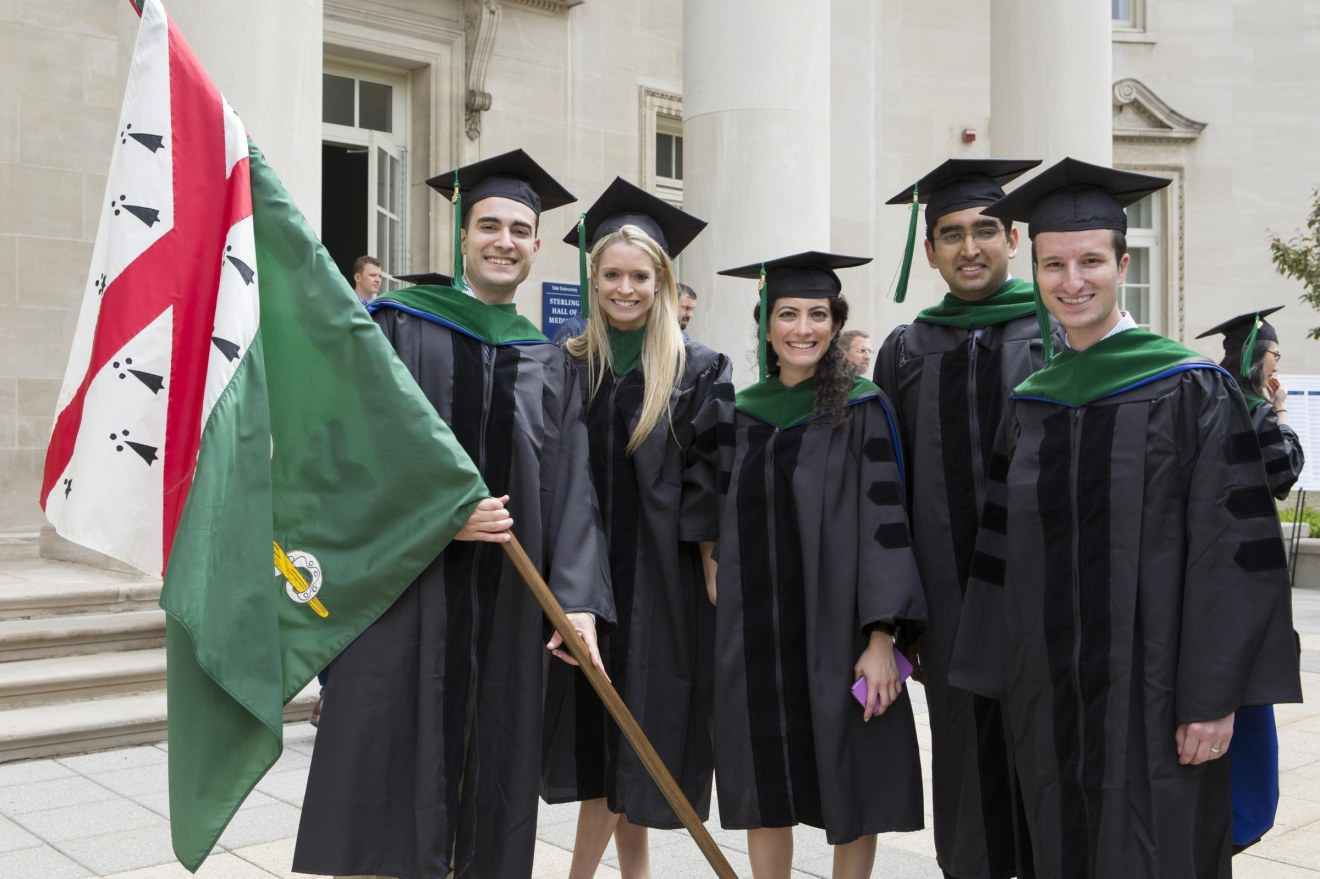 Members of the Class of 2015 celebrate on Commencement Day