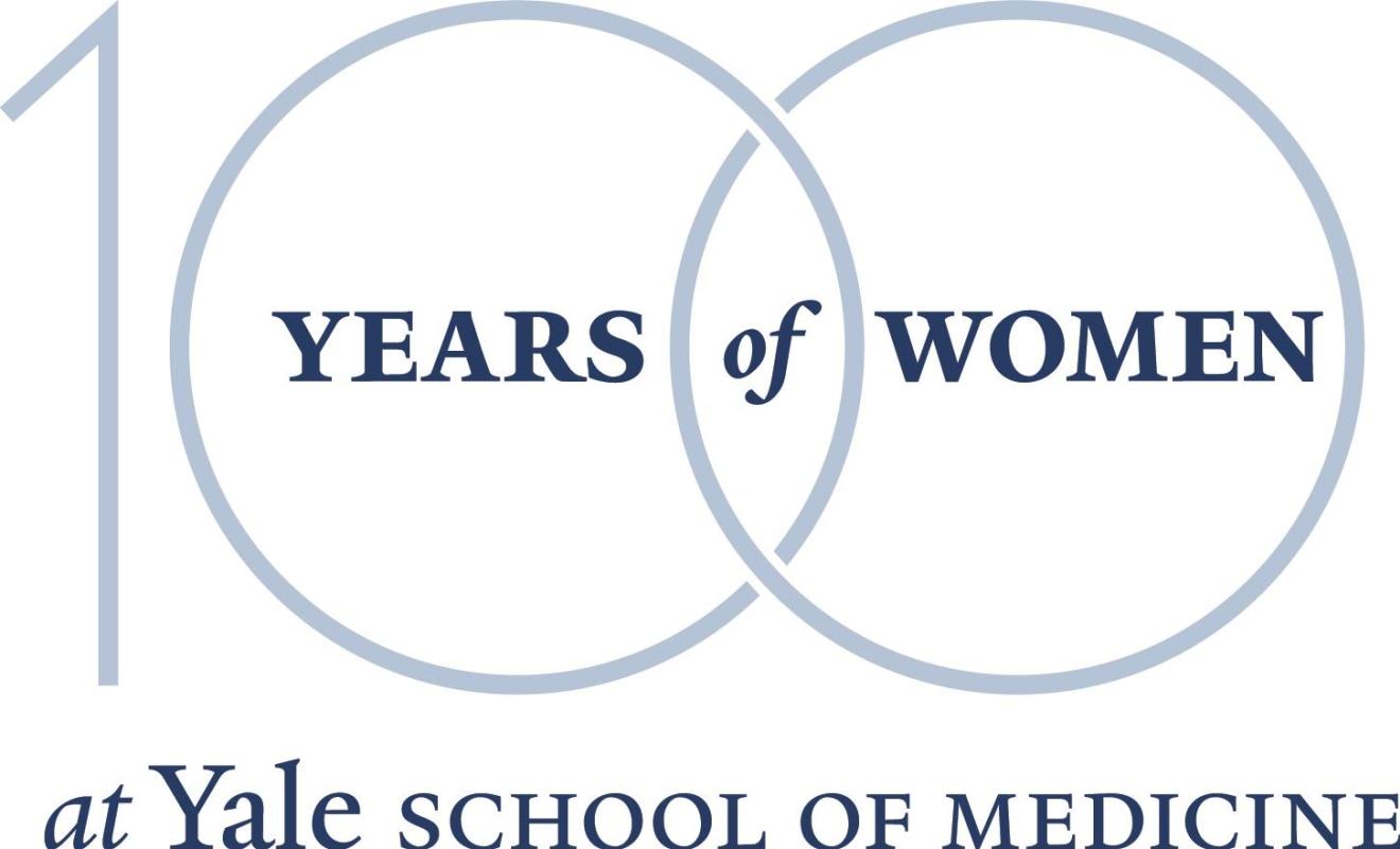 100 Years of Women at Yale School of Medicine logo