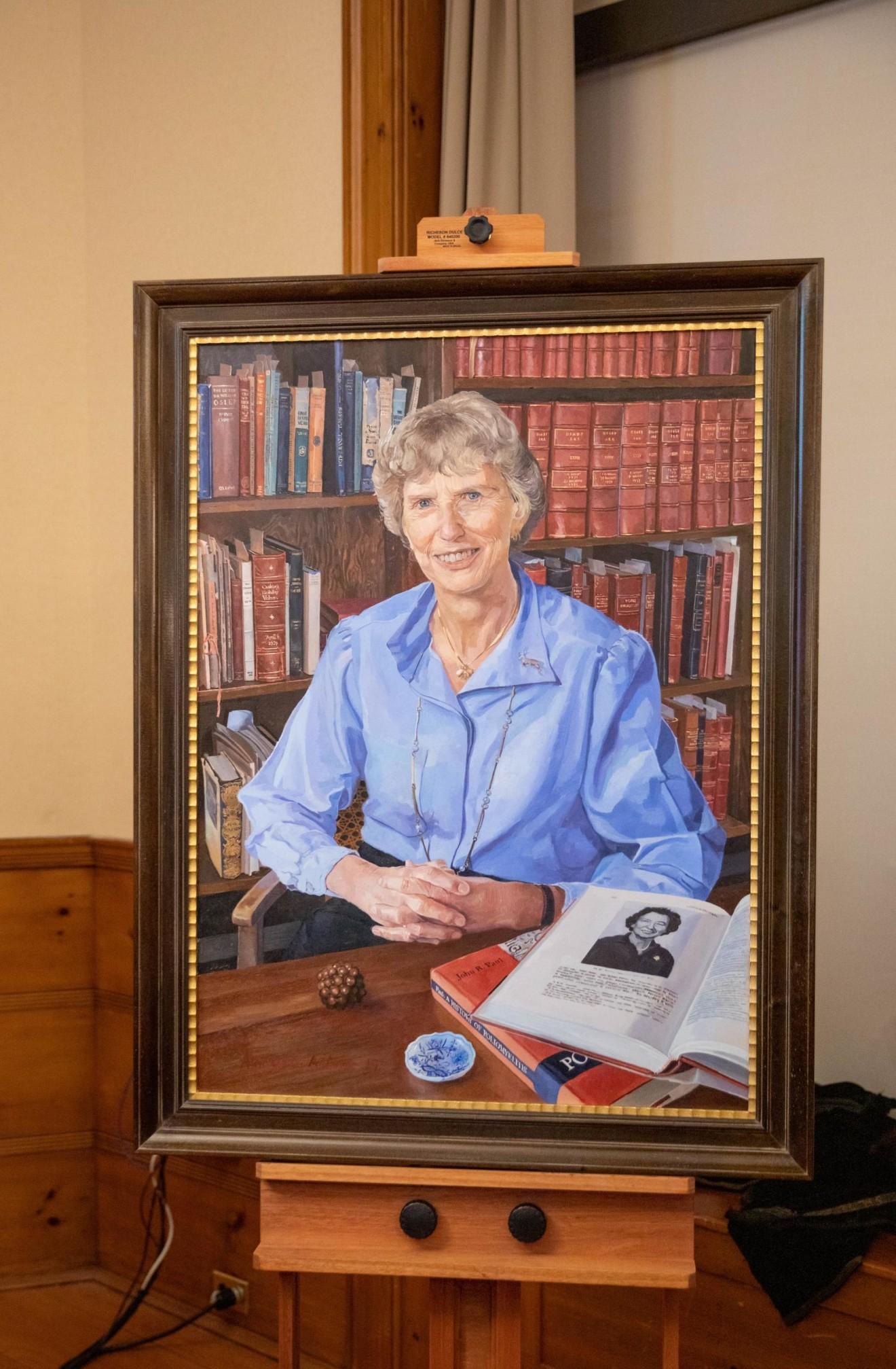 An oil portrait of Dorothy Horstmann, MD