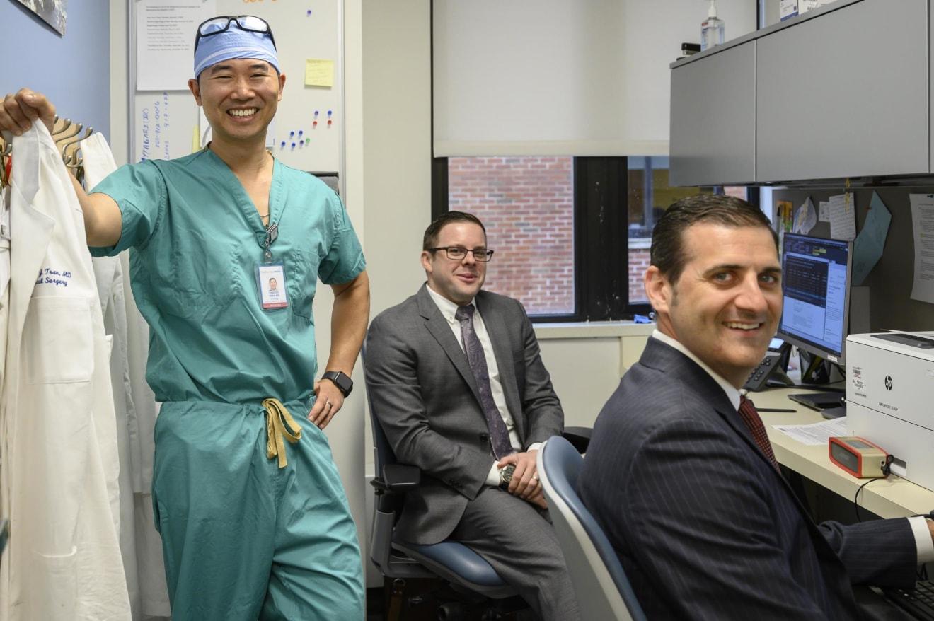 Drs. Tran, Brito, Renzulli, Yale Urology, New London, CT