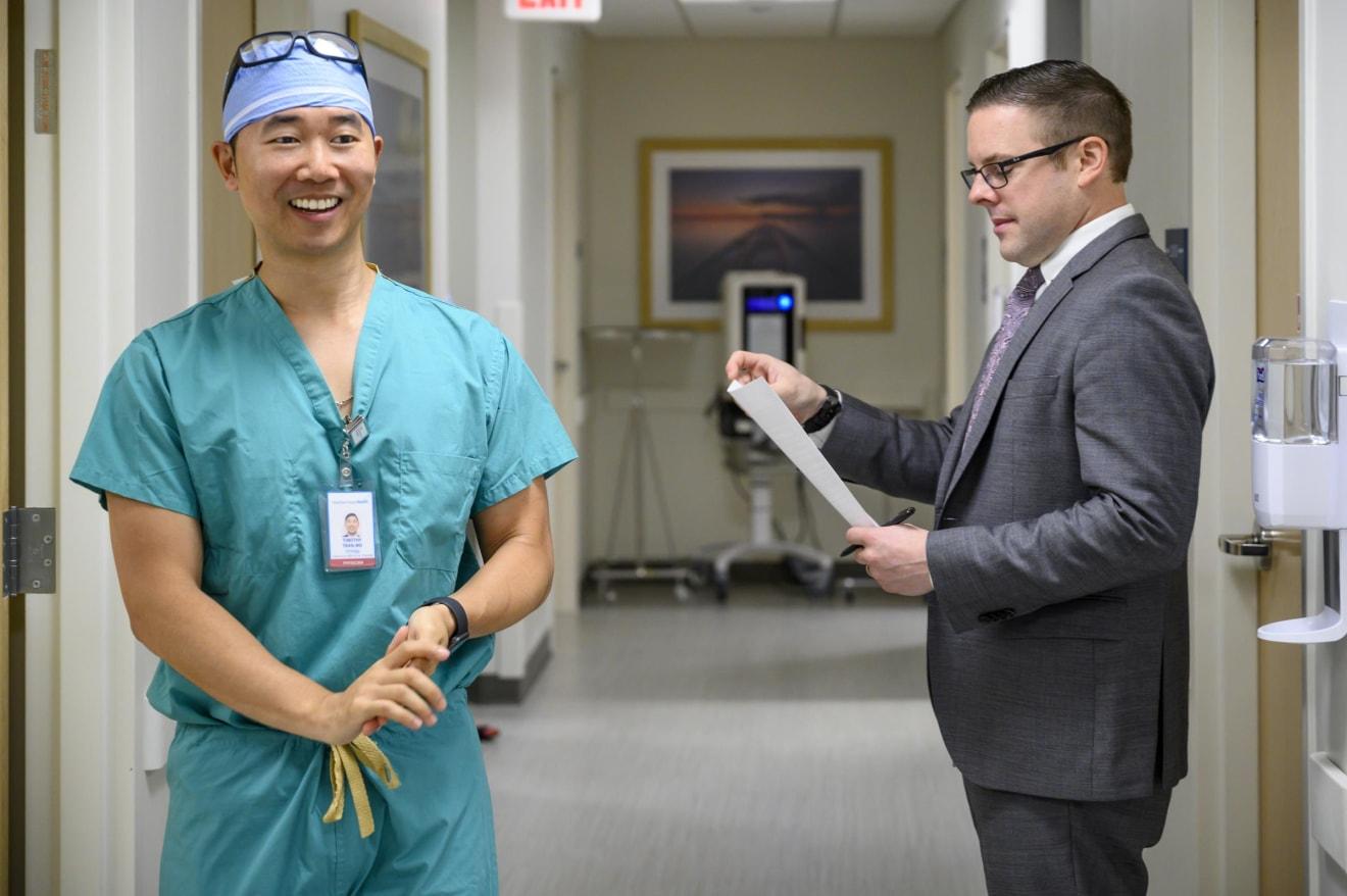 Dr. Timothy Tran and Dr. Joseph Brito, Yale Urology, New London, CT