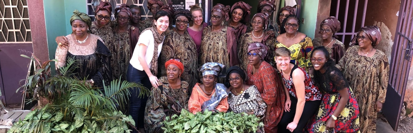 EPI LAMP team with women in Cameroon