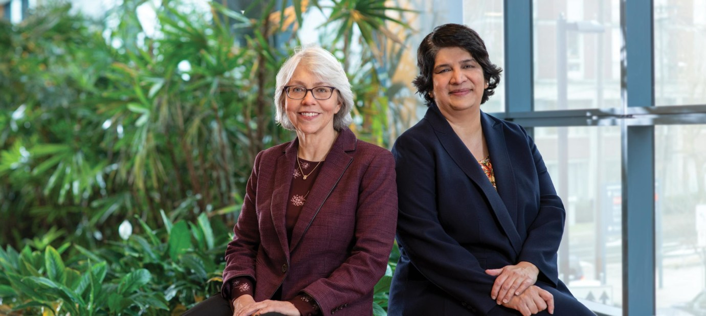 Suchitra Krishnan-Sarin, PhD left and Dr. O.Malley seated