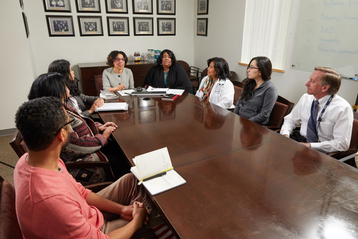 The Diversity Committee meets on a monthly basis to discuss recruitment initiatives within the Department of Internal Medicine.