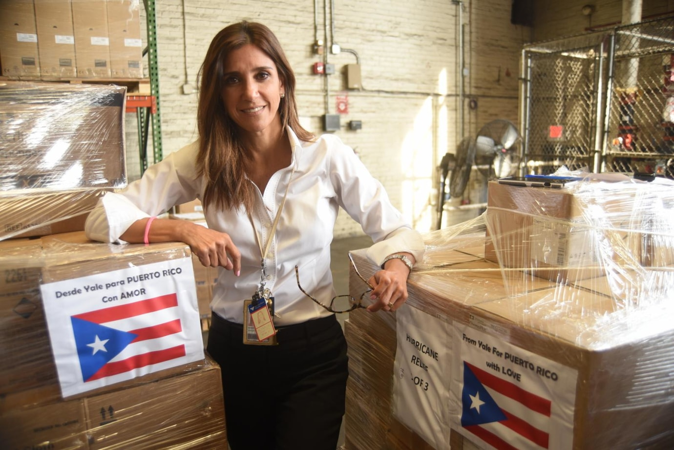Marietta Vazquez coordinated a shipment of 15,000 pounds of medical supplies to Puerto Rico after Hurricane Maria.