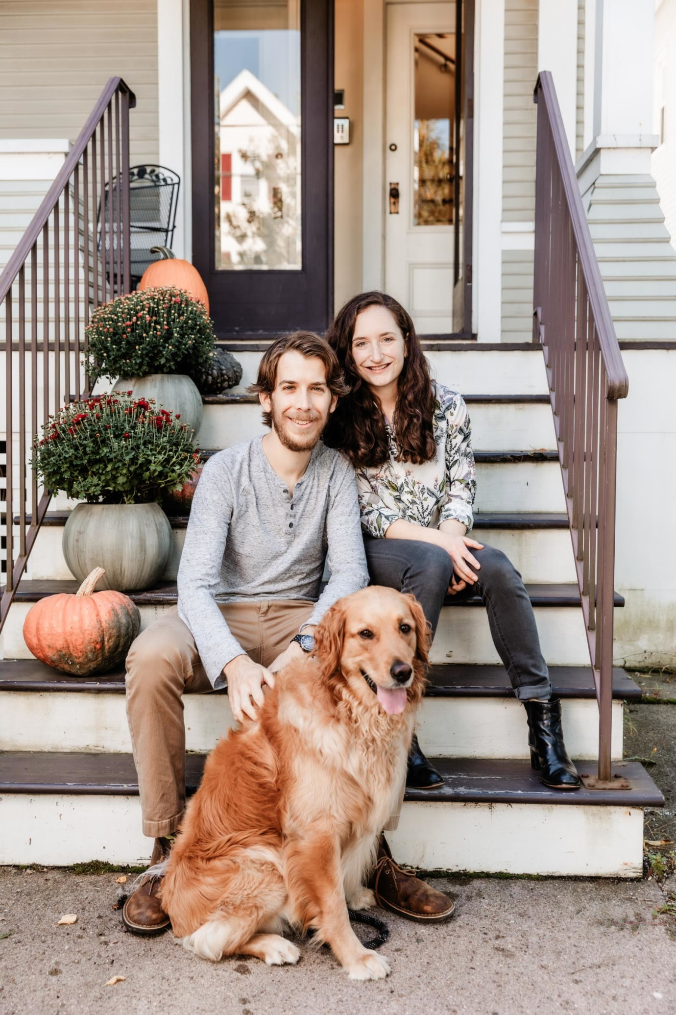 Daniel Barson and Abigail Green at their home in New Haven.
