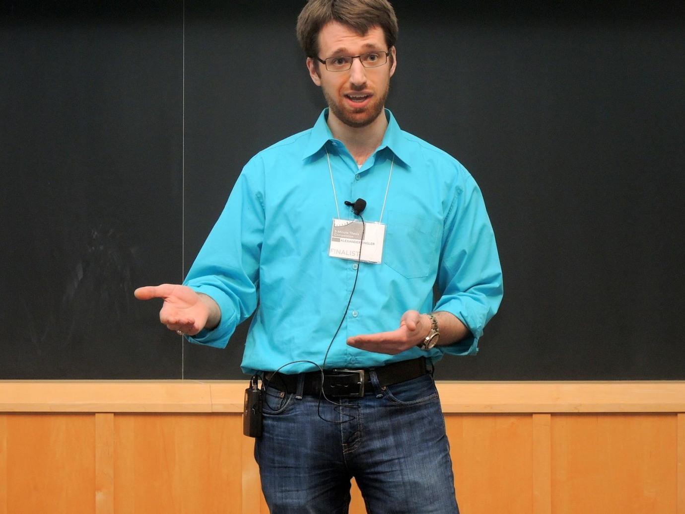 Alexander Engler, a student in biomedical engineering, described how to make a new lung.
