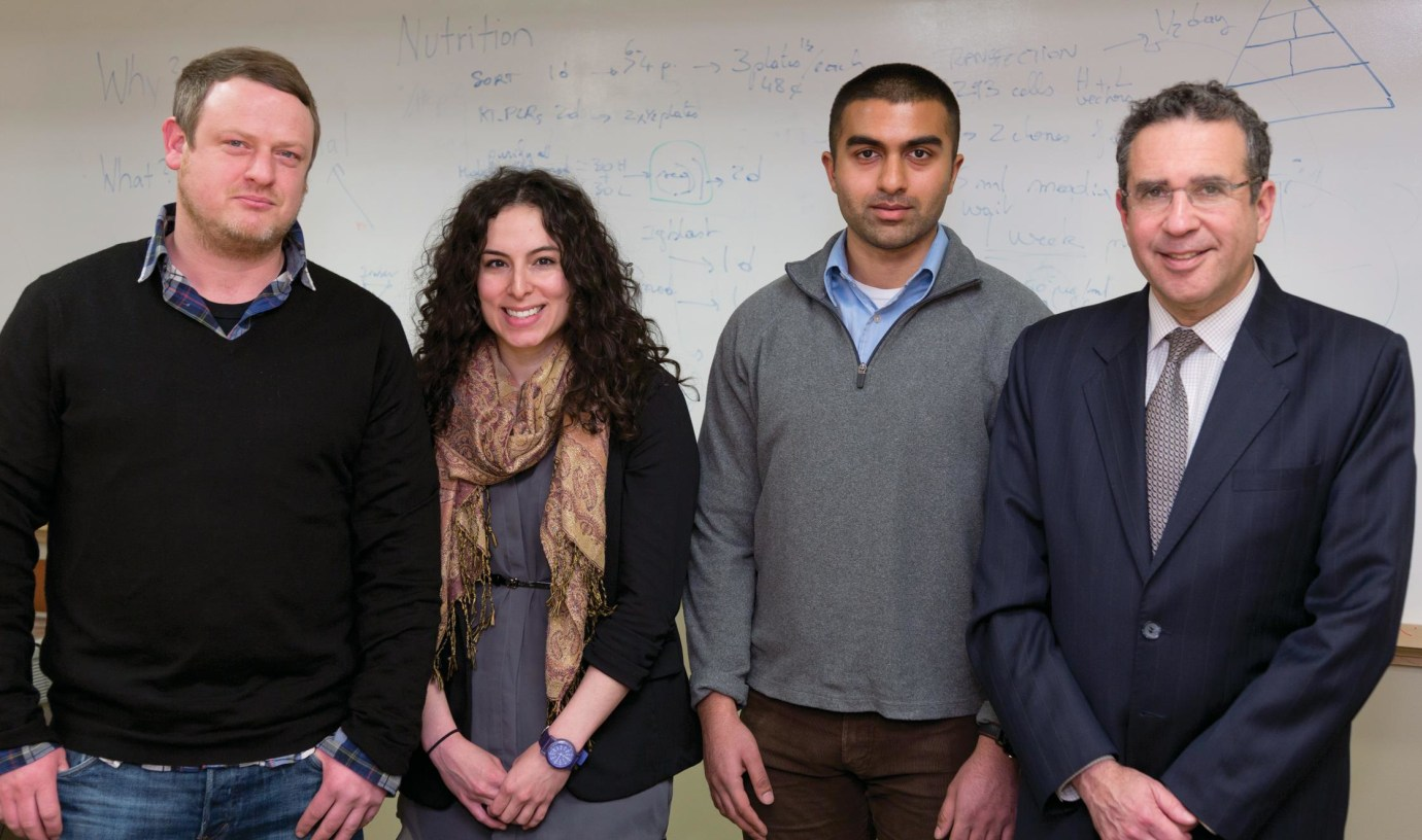 (From left) Markus Kleinewietfeld, Amanda Hernandez, Mansoor Zaidi and David Hafler.
