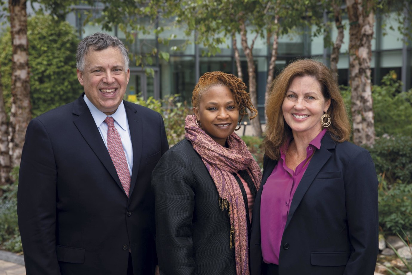 (l-r): Roy Herbst, Sakinah Carter Suttiratana, and Beth Anne Jones are leaders of Yale Cancer Center's Cancer Disparities Firewall initiative
