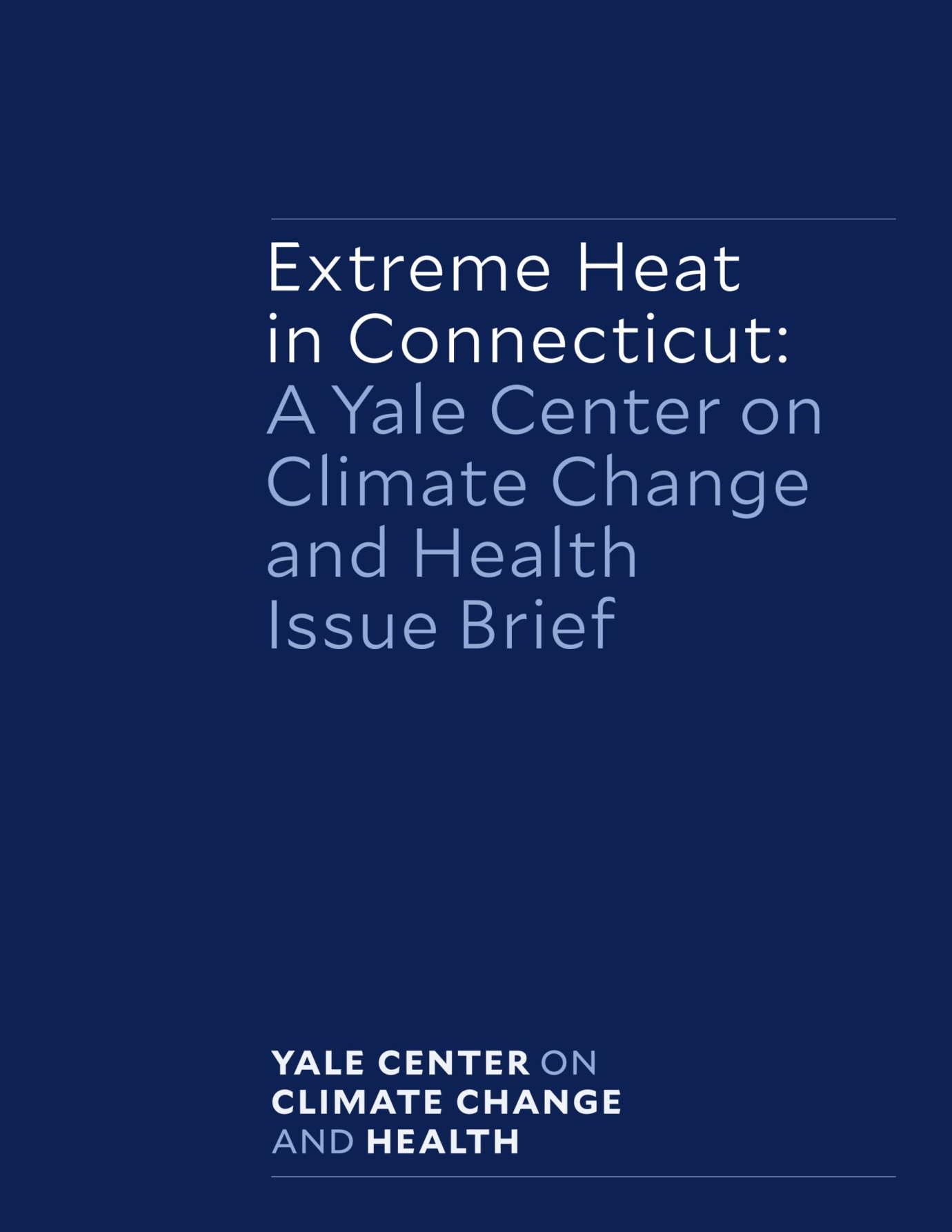 Cover of Heat Brief