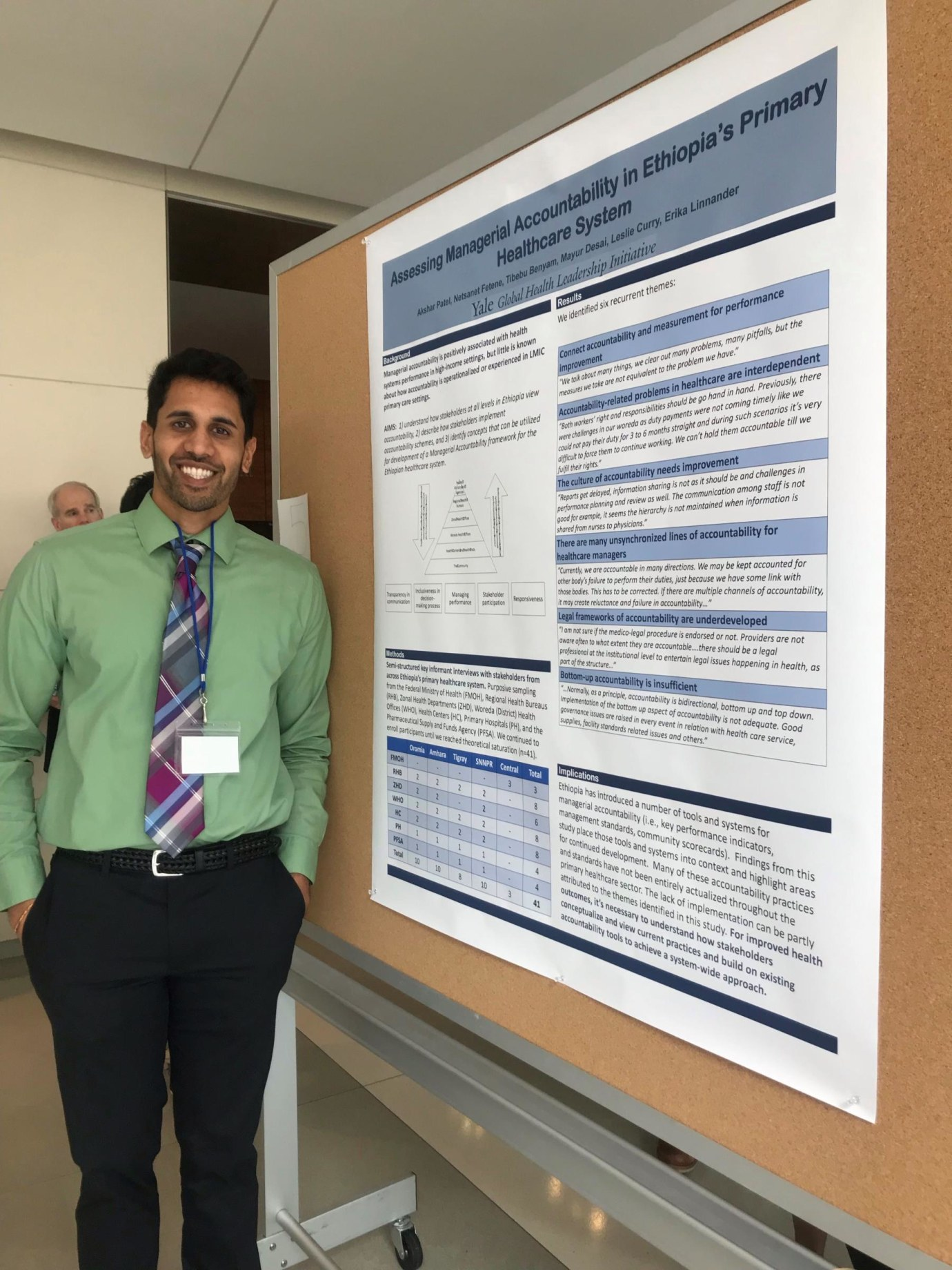 Student intern Akshar Patel during poster presentation on Ethiopia internship and thesis work at the Houston Global Health Collaborative Conference March 2019